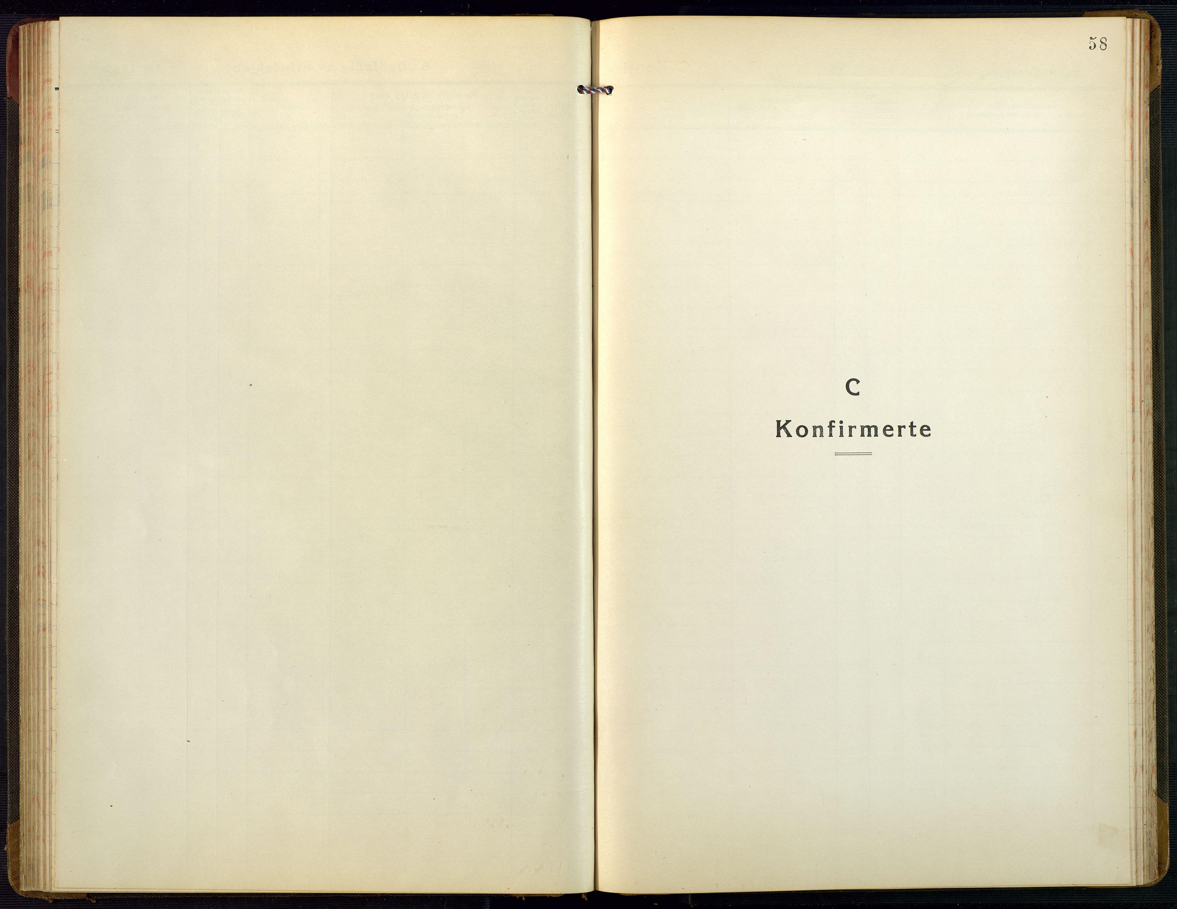 SAK, Bygland sokneprestkontor, F/Fb/Fbb/L0005: Klokkerbok nr. B 5, 1920-1955, s. 58