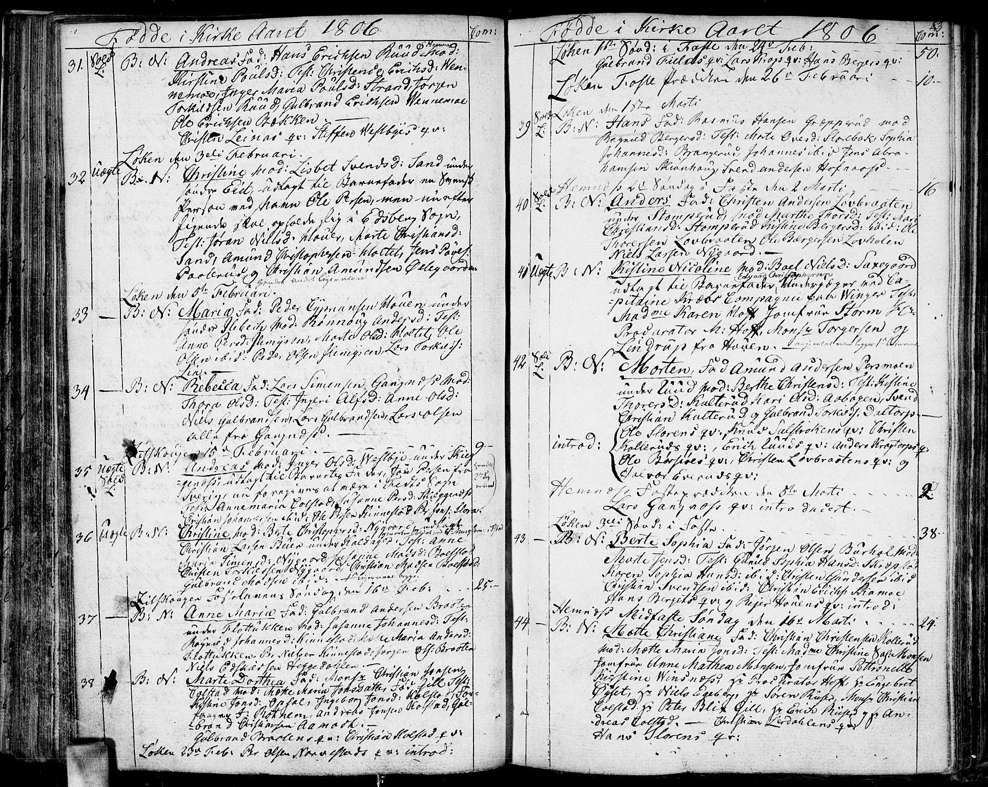 SAO, Høland prestekontor Kirkebøker, F/Fa/L0006: Ministerialbok nr. I 6, 1794-1814, s. 83