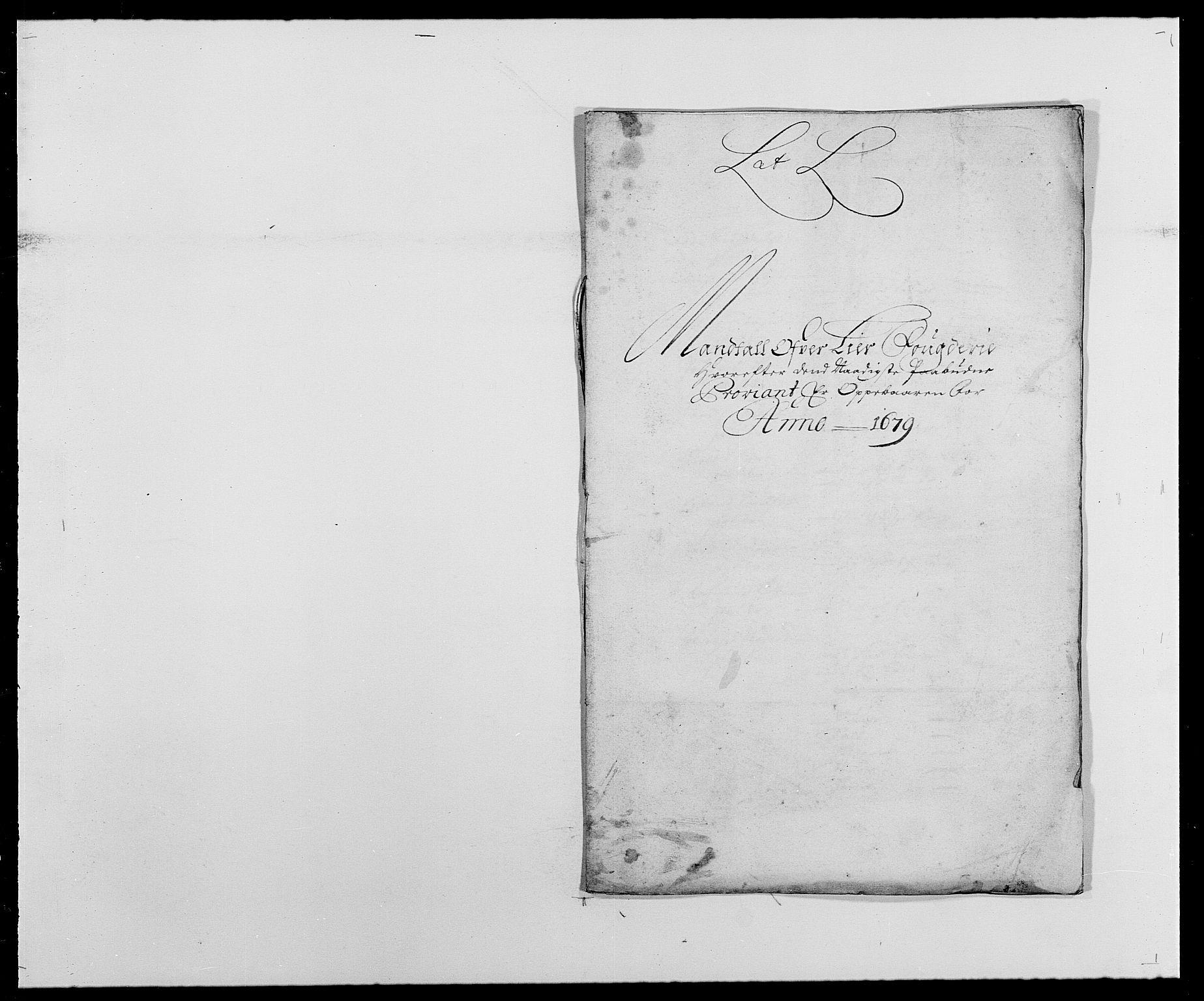 RA, Rentekammeret inntil 1814, Reviderte regnskaper, Fogderegnskap, R27/L1686: Fogderegnskap Lier, 1678-1686, s. 163