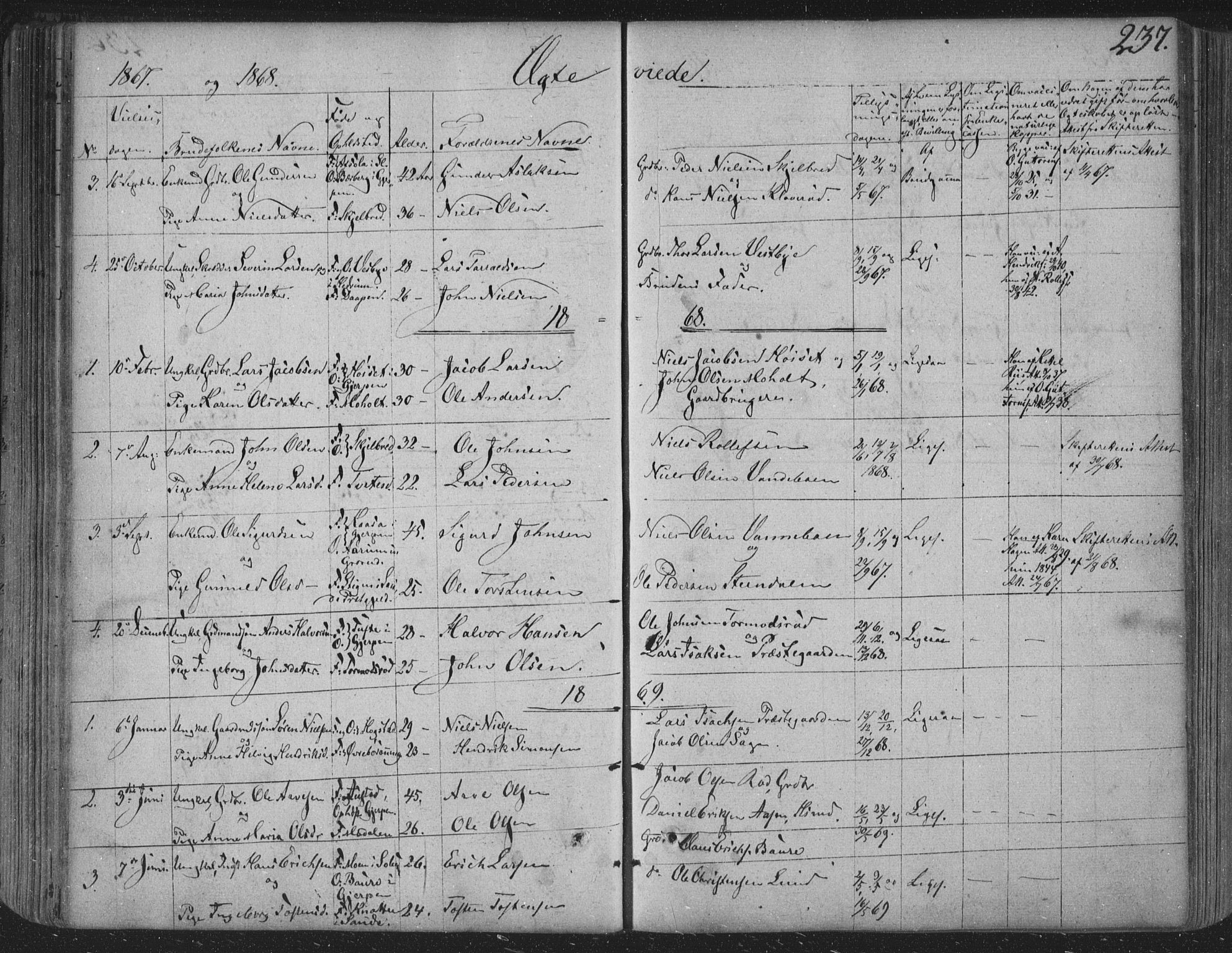 SAKO, Siljan kirkebøker, F/Fa/L0001: Ministerialbok nr. 1, 1831-1870, s. 237