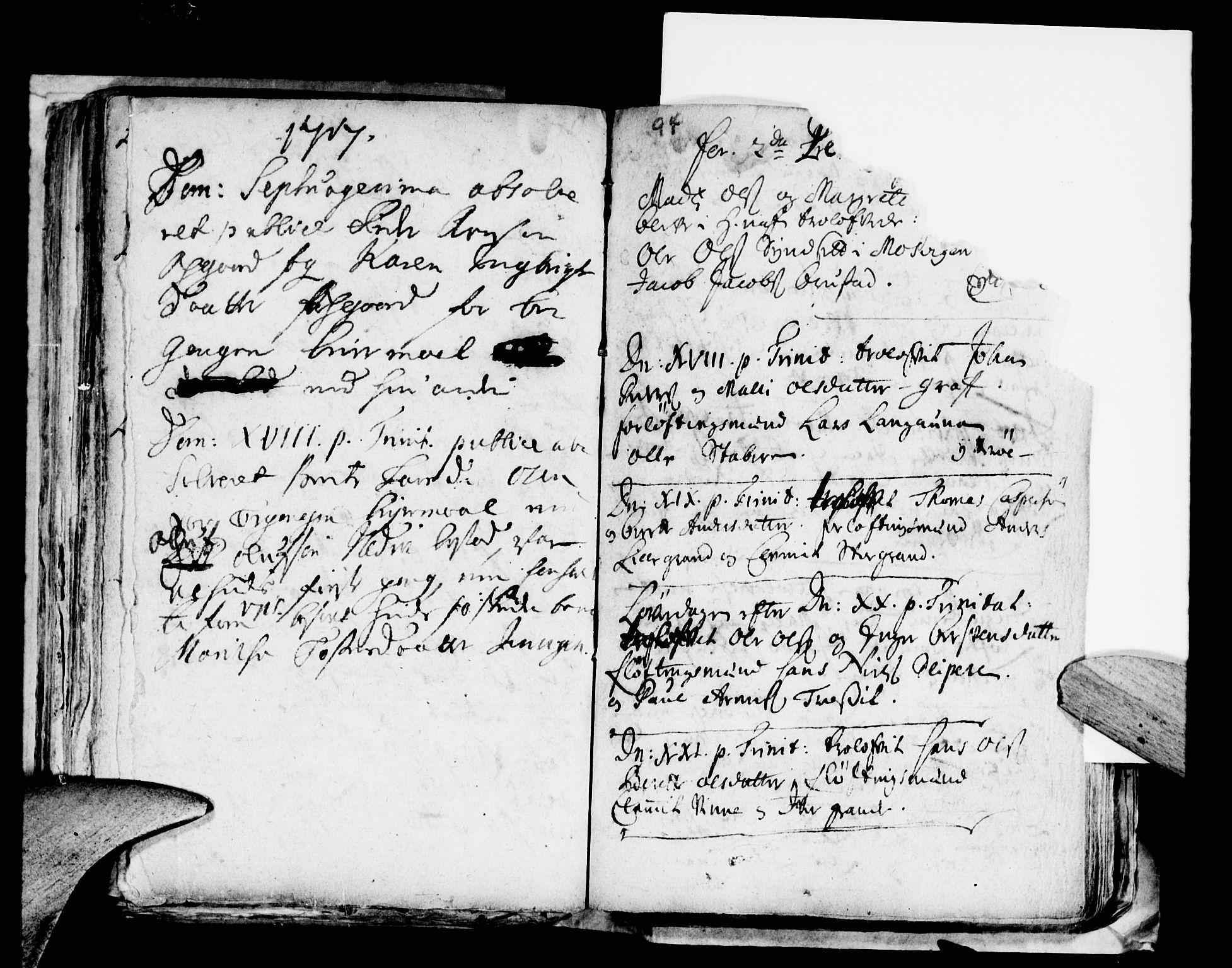 SAT, Ministerialprotokoller, klokkerbøker og fødselsregistre - Nord-Trøndelag, 722/L0214: Ministerialbok nr. 722A01, 1692-1718, s. 94
