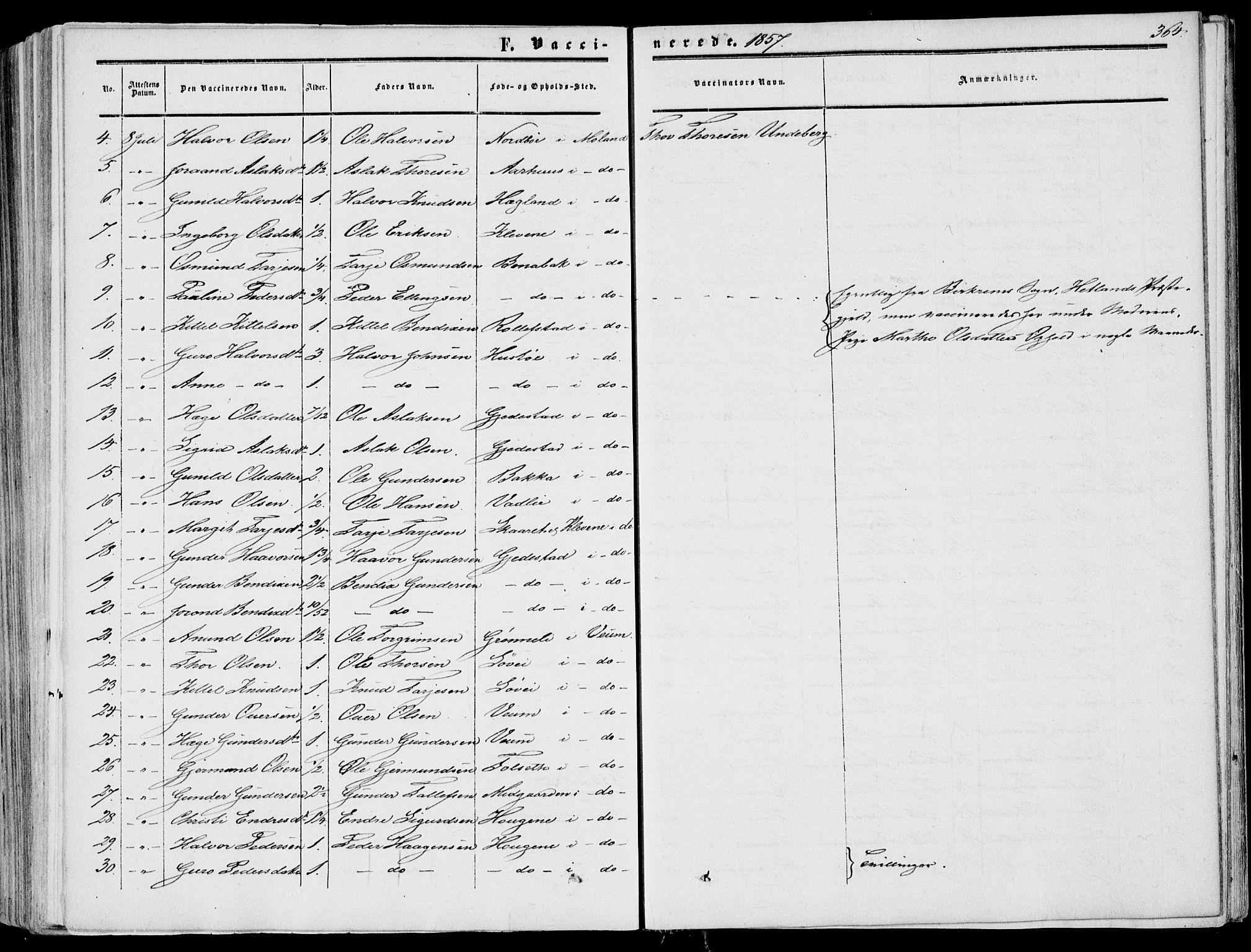 SAKO, Fyresdal kirkebøker, F/Fa/L0005: Ministerialbok nr. I 5, 1855-1871, s. 364