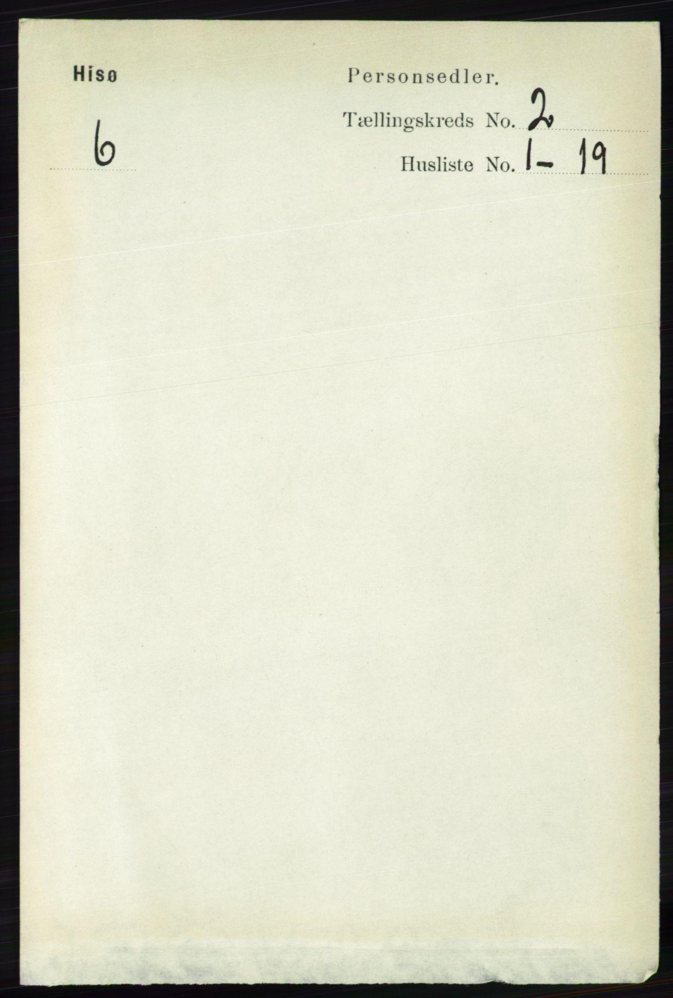 RA, Folketelling 1891 for 0922 Hisøy herred, 1891, s. 891