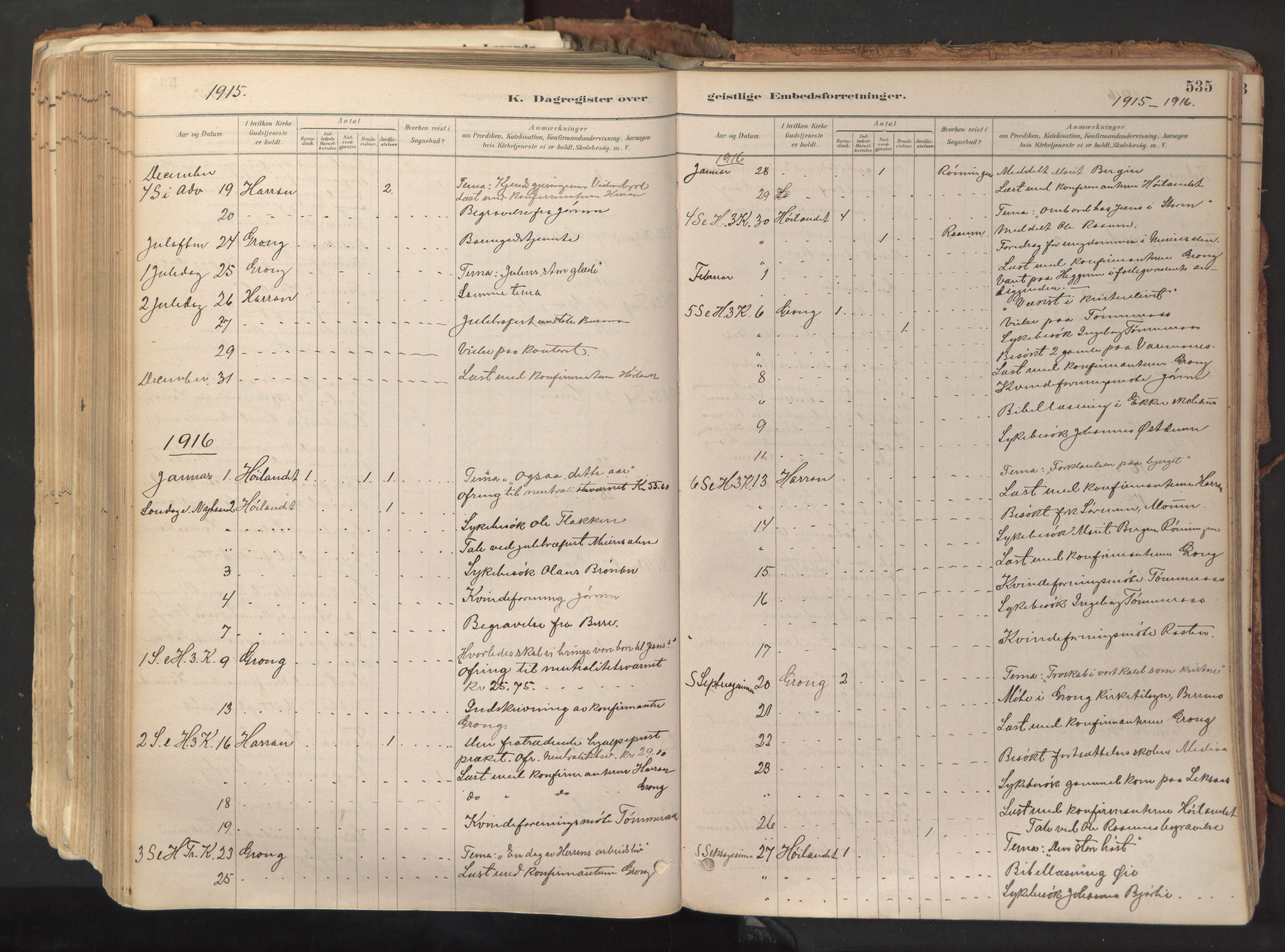 SAT, Ministerialprotokoller, klokkerbøker og fødselsregistre - Nord-Trøndelag, 758/L0519: Ministerialbok nr. 758A04, 1880-1926, s. 535