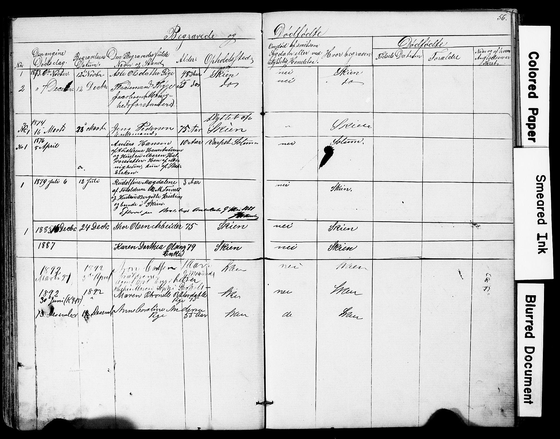SAKO, Den frie apostolisk-kristelige menighet i Skien, F/Fa/L0001: Dissenterprotokoll nr. 1, 1856-1892, s. 56