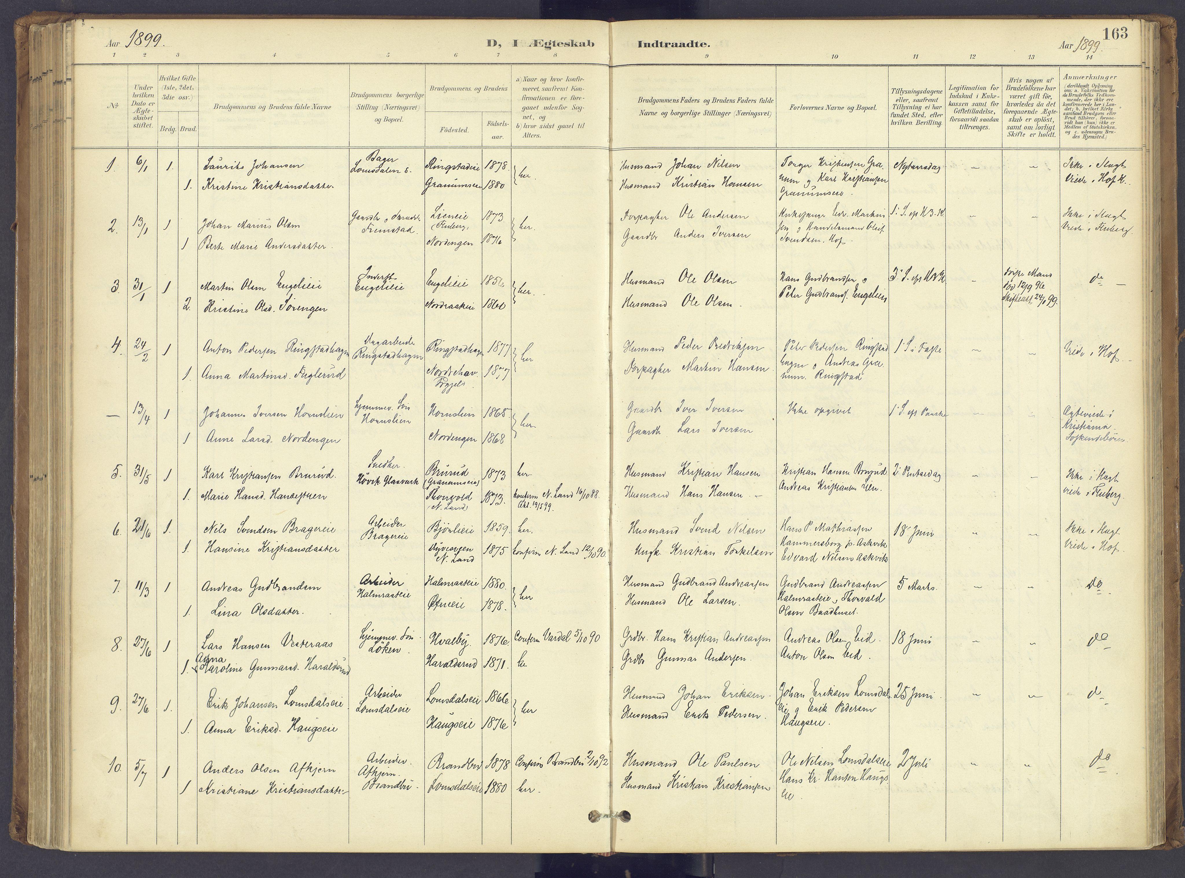 SAH, Søndre Land prestekontor, K/L0006: Ministerialbok nr. 6, 1895-1904, s. 163