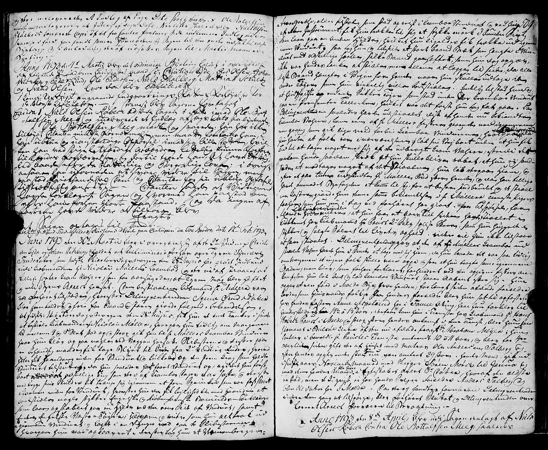 SAT, Molde byfogd, 1A/L0001: Justisprotokoll, 1764-1796, s. 510