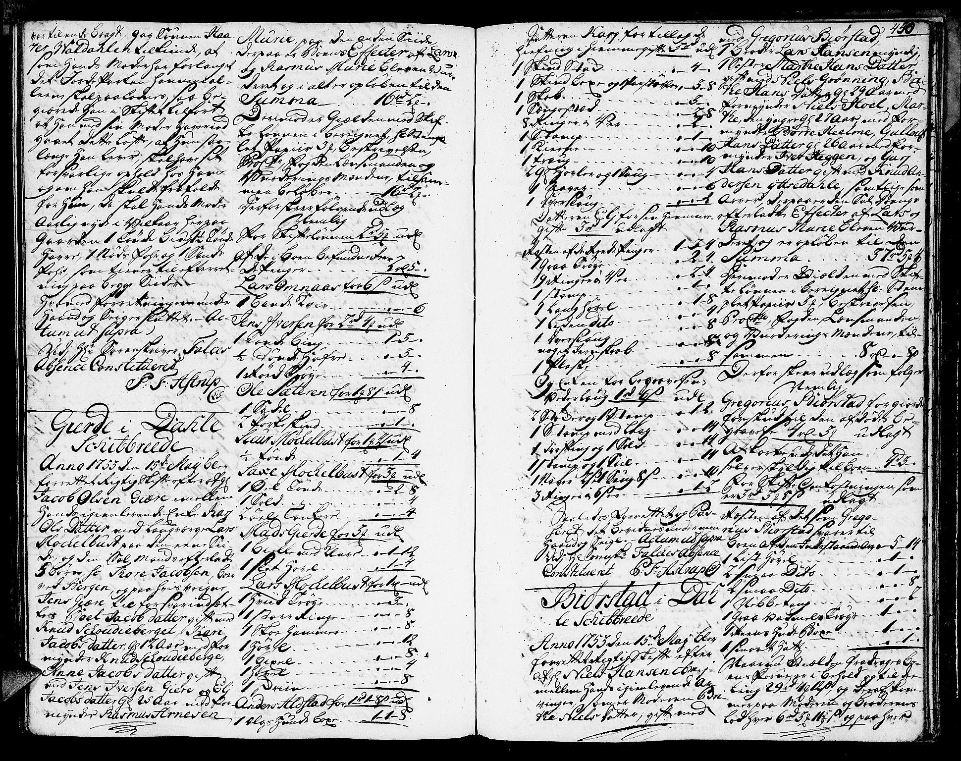 SAT, Sunnmøre sorenskriveri, 3/3A/L0017: Skifteprotokoll 13A, 1749-1753, s. 449b-450a