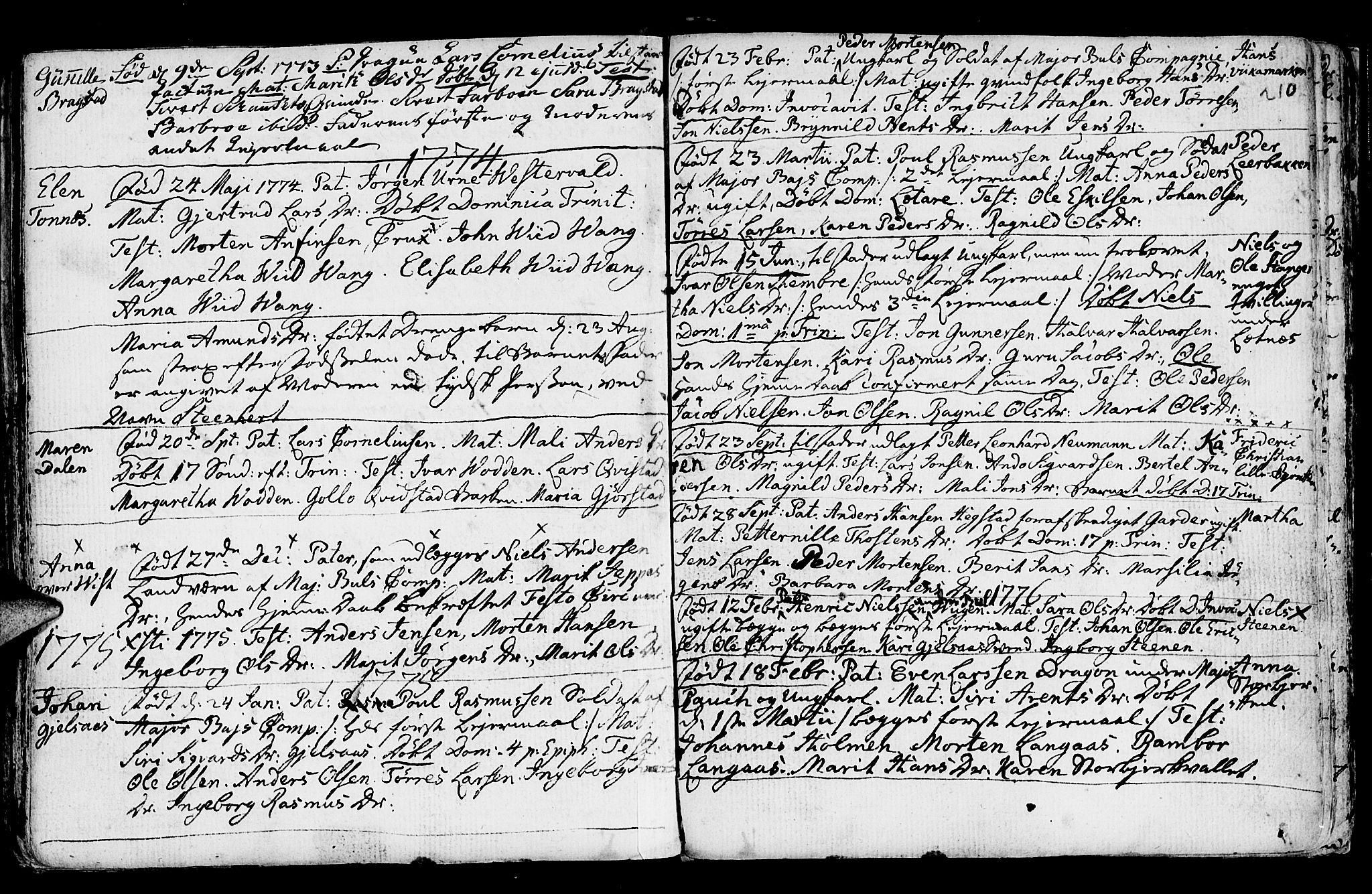 SAT, Ministerialprotokoller, klokkerbøker og fødselsregistre - Nord-Trøndelag, 730/L0273: Ministerialbok nr. 730A02, 1762-1802, s. 210