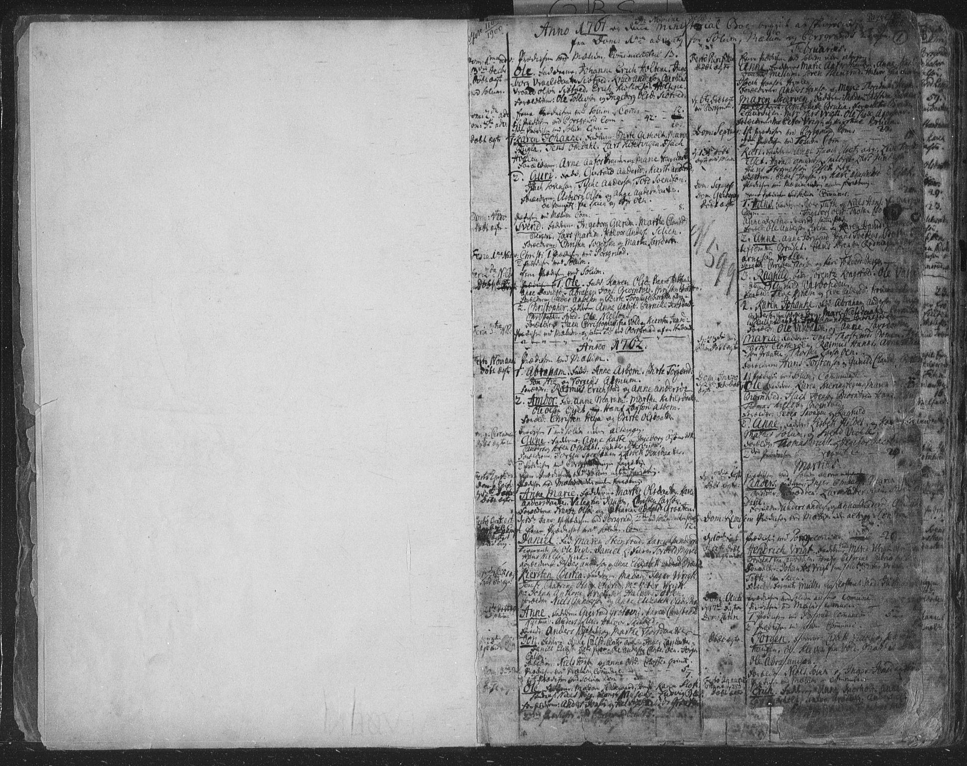 SAKO, Solum kirkebøker, F/Fa/L0003: Ministerialbok nr. I 3, 1761-1814, s. 0-1