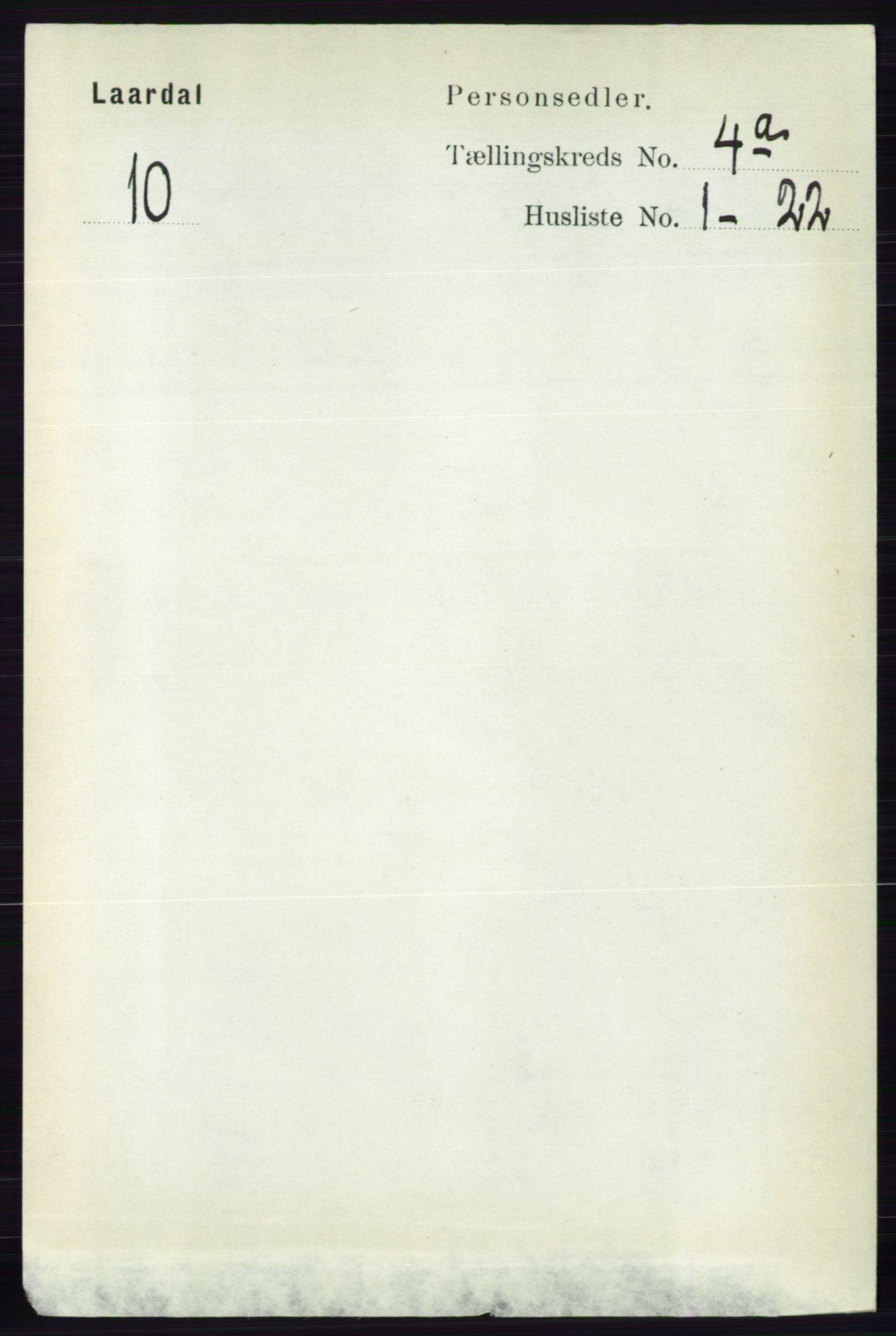 RA, Folketelling 1891 for 0833 Lårdal herred, 1891, s. 1024