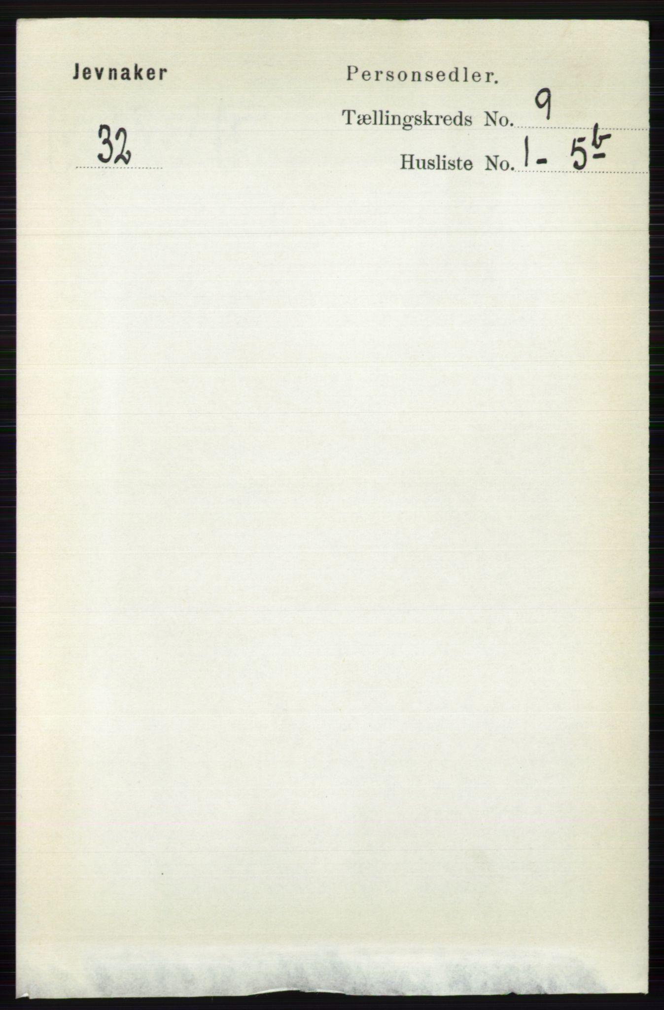 RA, Folketelling 1891 for 0532 Jevnaker herred, 1891, s. 4896