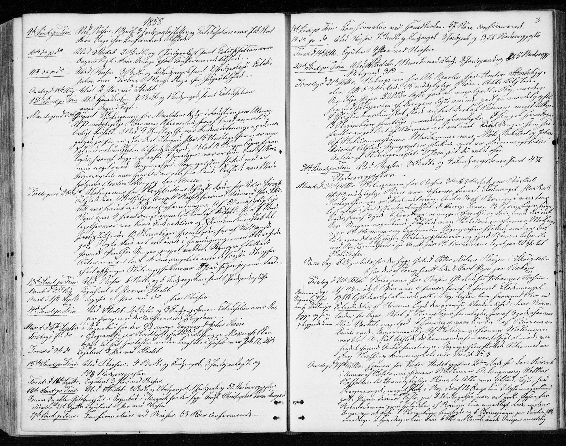 SAT, Ministerialprotokoller, klokkerbøker og fødselsregistre - Sør-Trøndelag, 646/L0612: Ministerialbok nr. 646A10, 1858-1869, s. 3