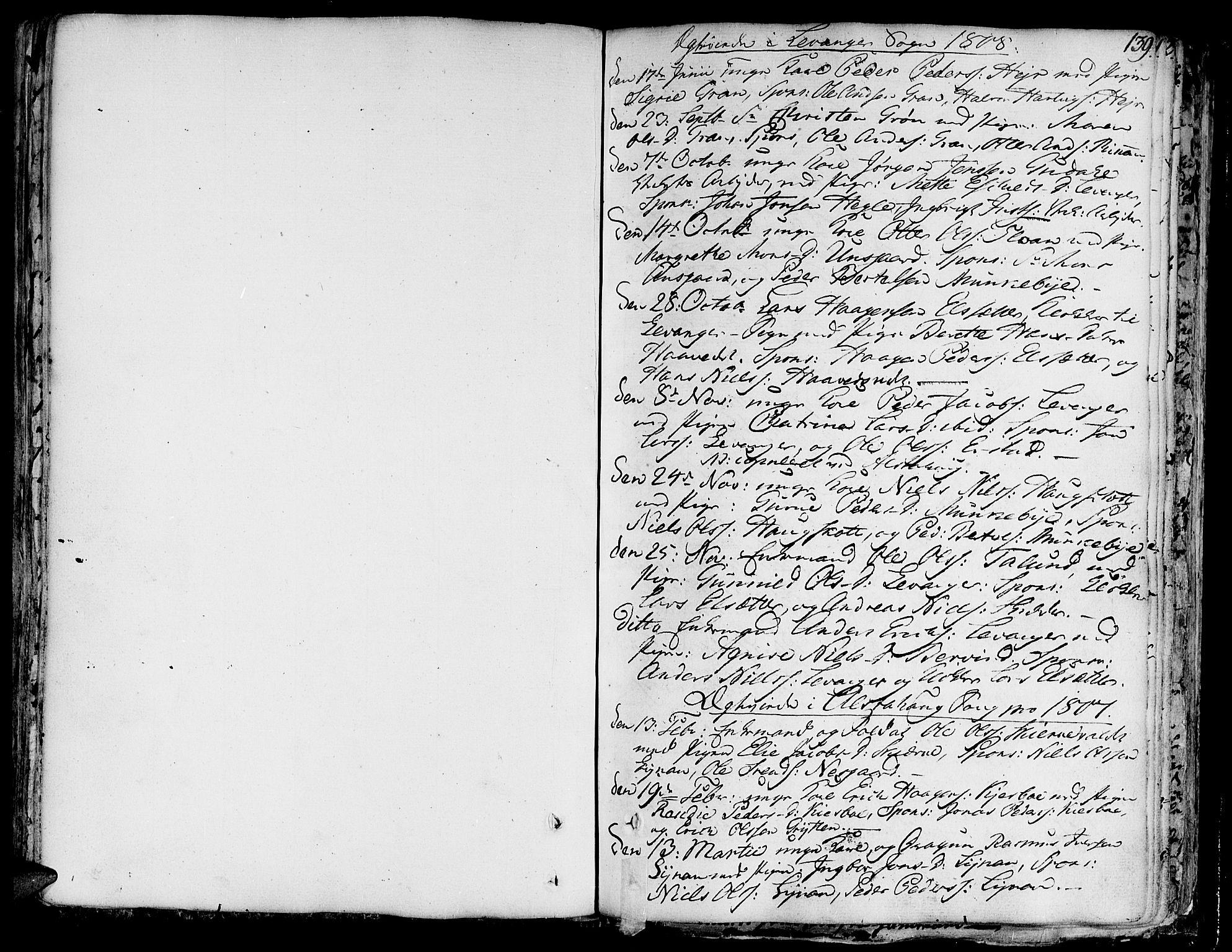 SAT, Ministerialprotokoller, klokkerbøker og fødselsregistre - Nord-Trøndelag, 717/L0142: Ministerialbok nr. 717A02 /1, 1783-1809, s. 139