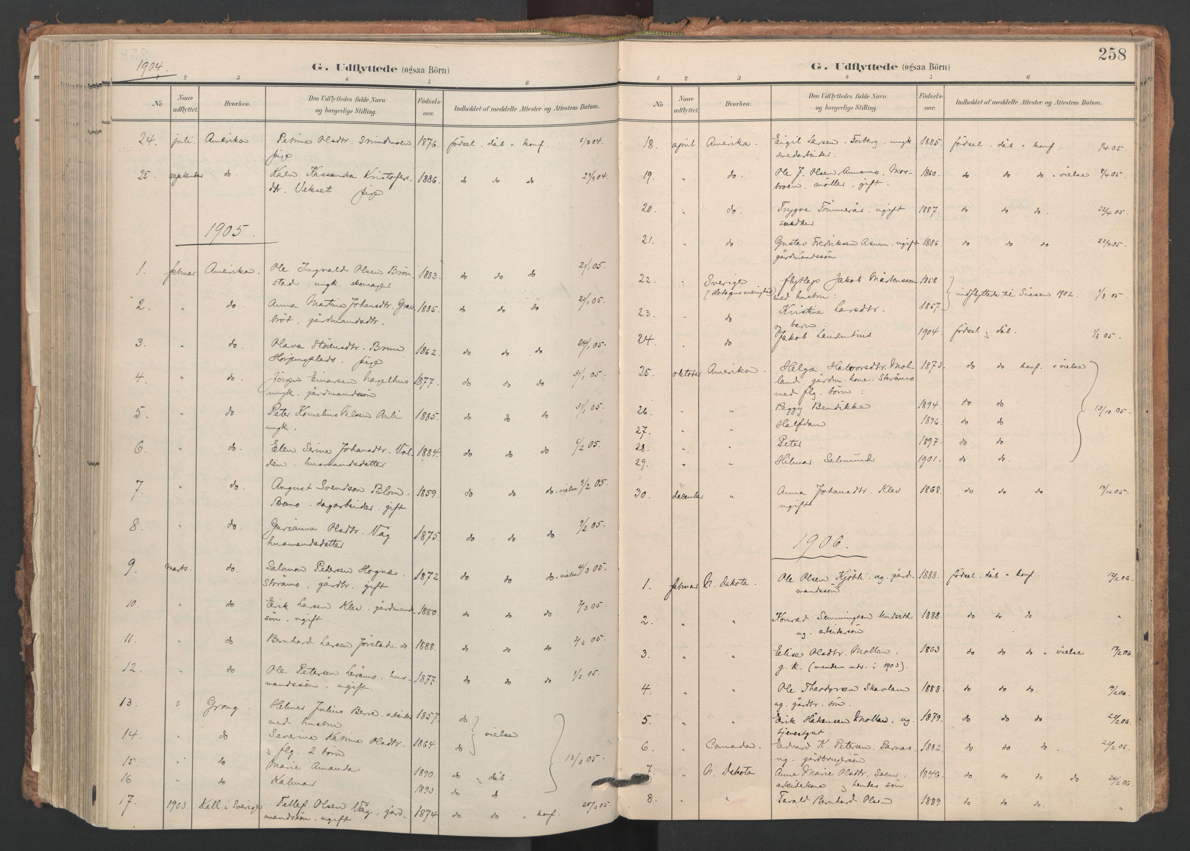 SAT, Ministerialprotokoller, klokkerbøker og fødselsregistre - Nord-Trøndelag, 749/L0477: Ministerialbok nr. 749A11, 1902-1927, s. 258