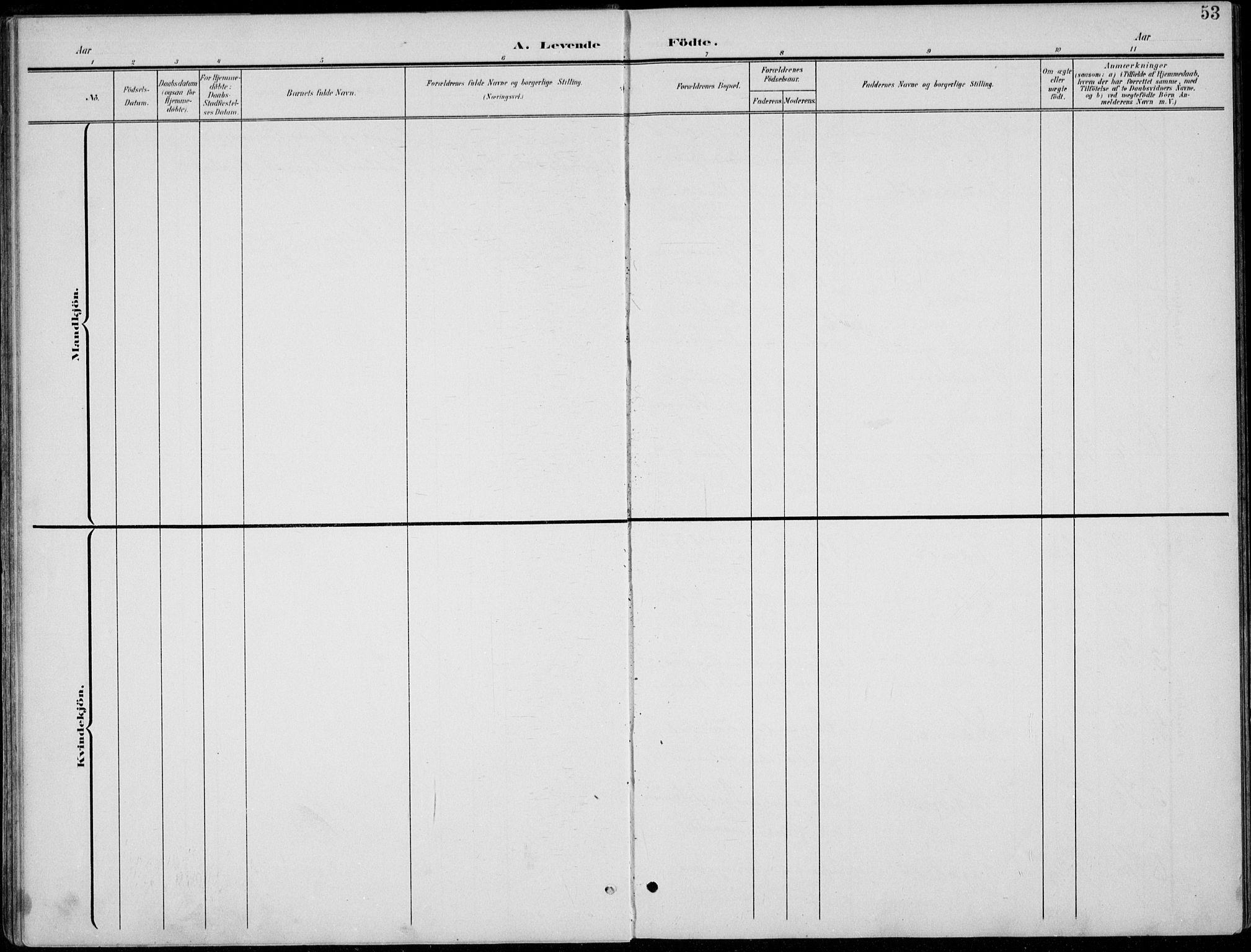 SAH, Lom prestekontor, L/L0006: Klokkerbok nr. 6, 1901-1939, s. 53