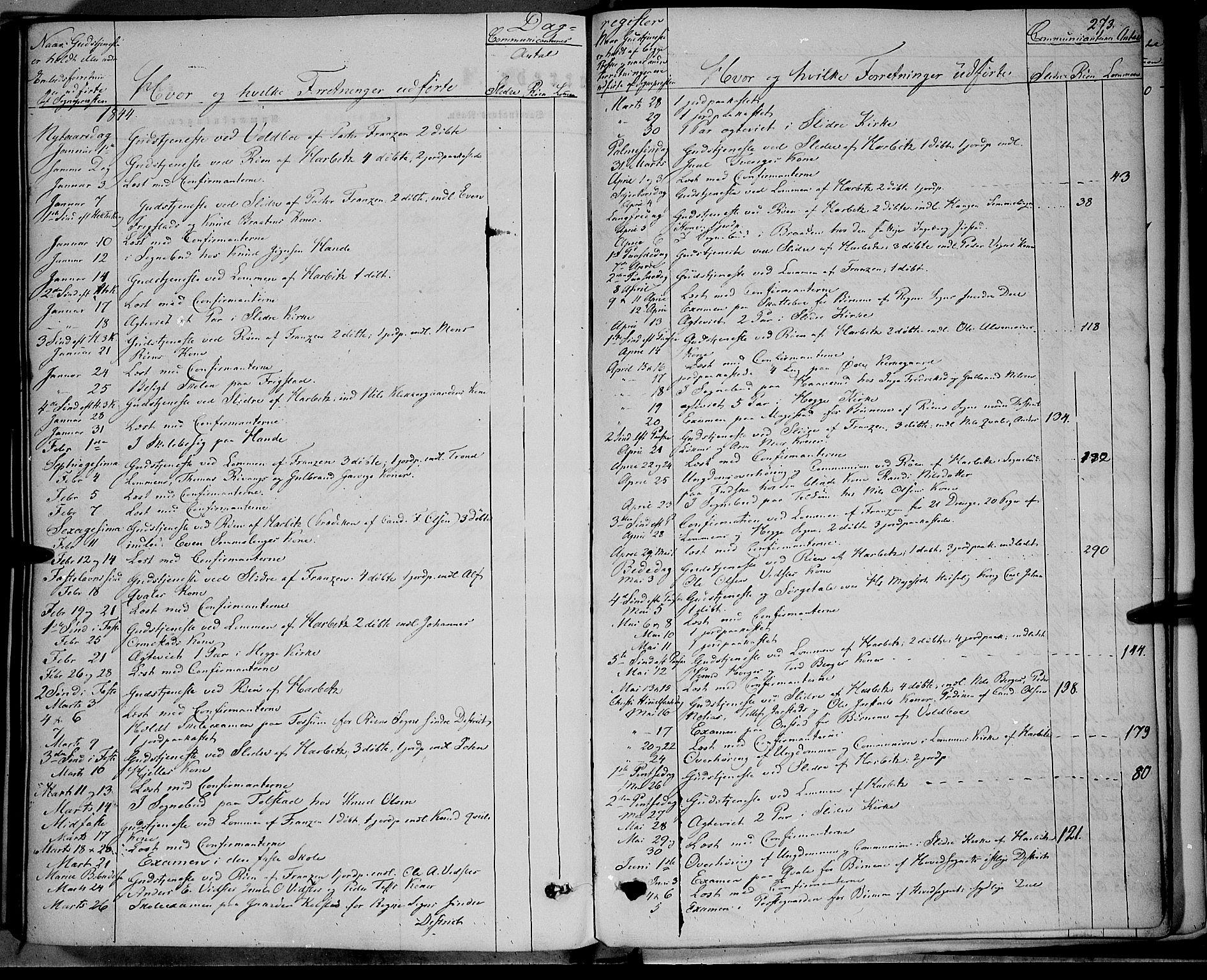 SAH, Vestre Slidre prestekontor, Ministerialbok nr. 1, 1844-1855, s. 273