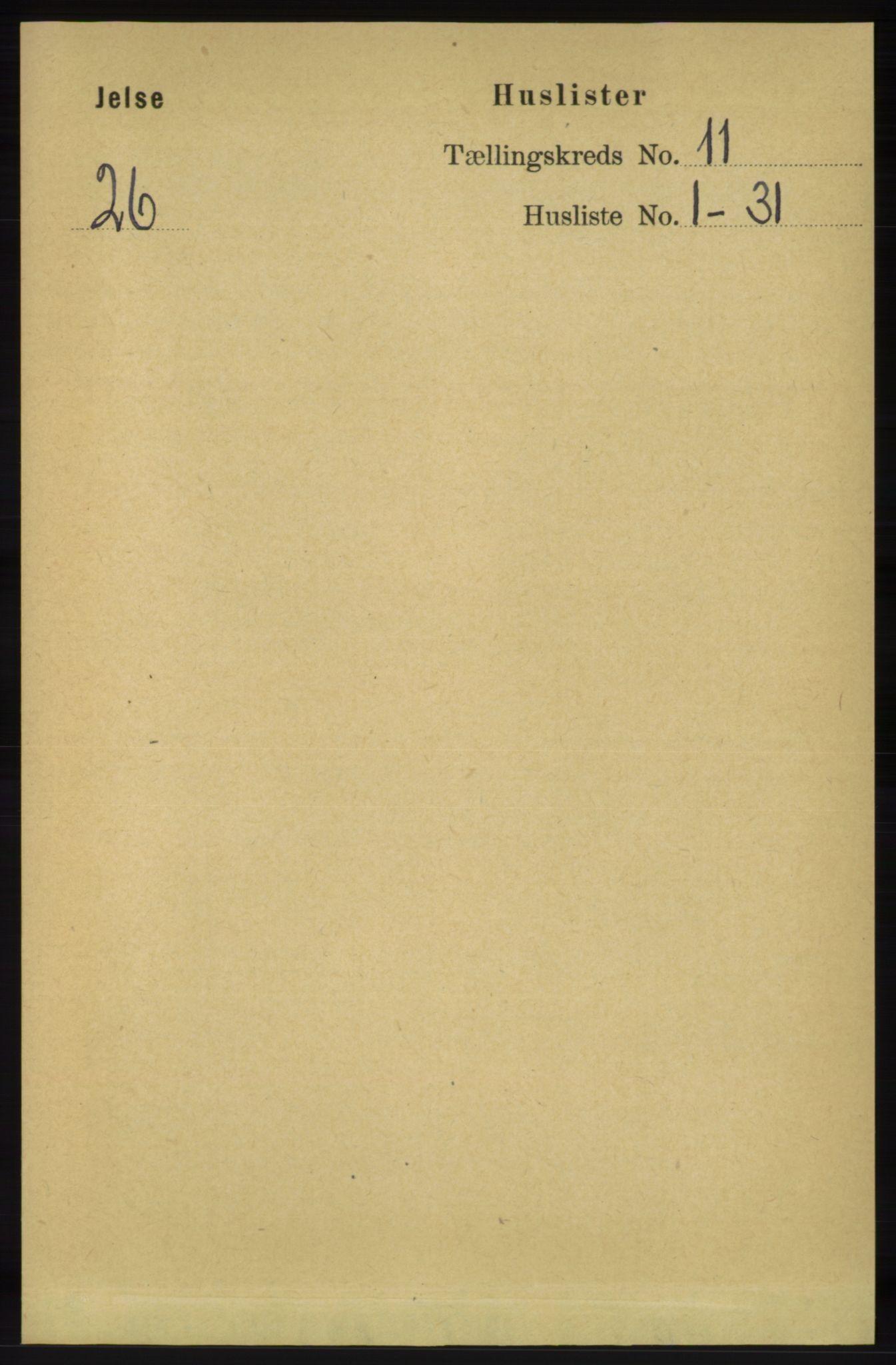 RA, Folketelling 1891 for 1138 Jelsa herred, 1891, s. 2738