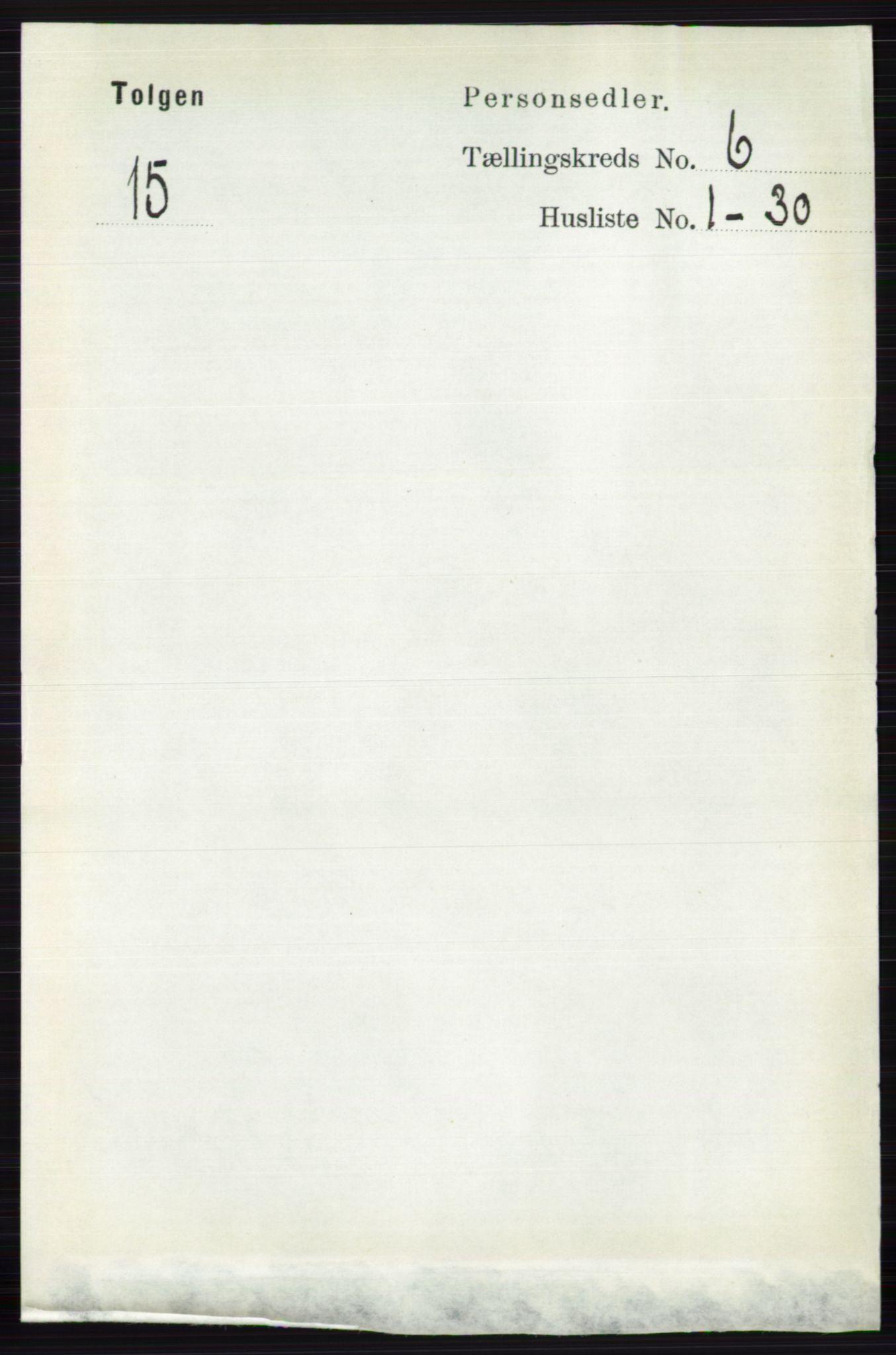 RA, Folketelling 1891 for 0436 Tolga herred, 1891, s. 1644