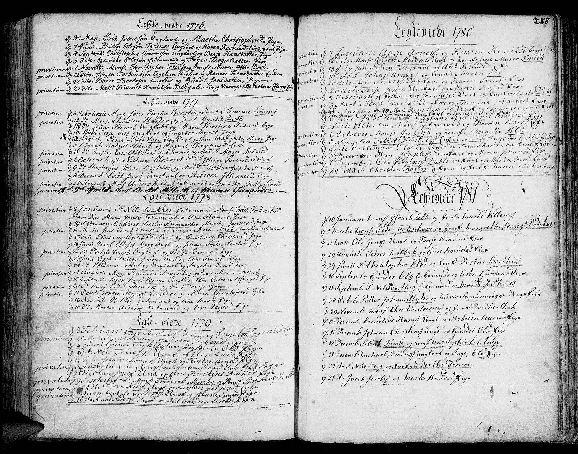 SAK, Arendal sokneprestkontor, Trefoldighet, F/Fa/L0001: Ministerialbok nr. A 1, 1703-1815, s. 364