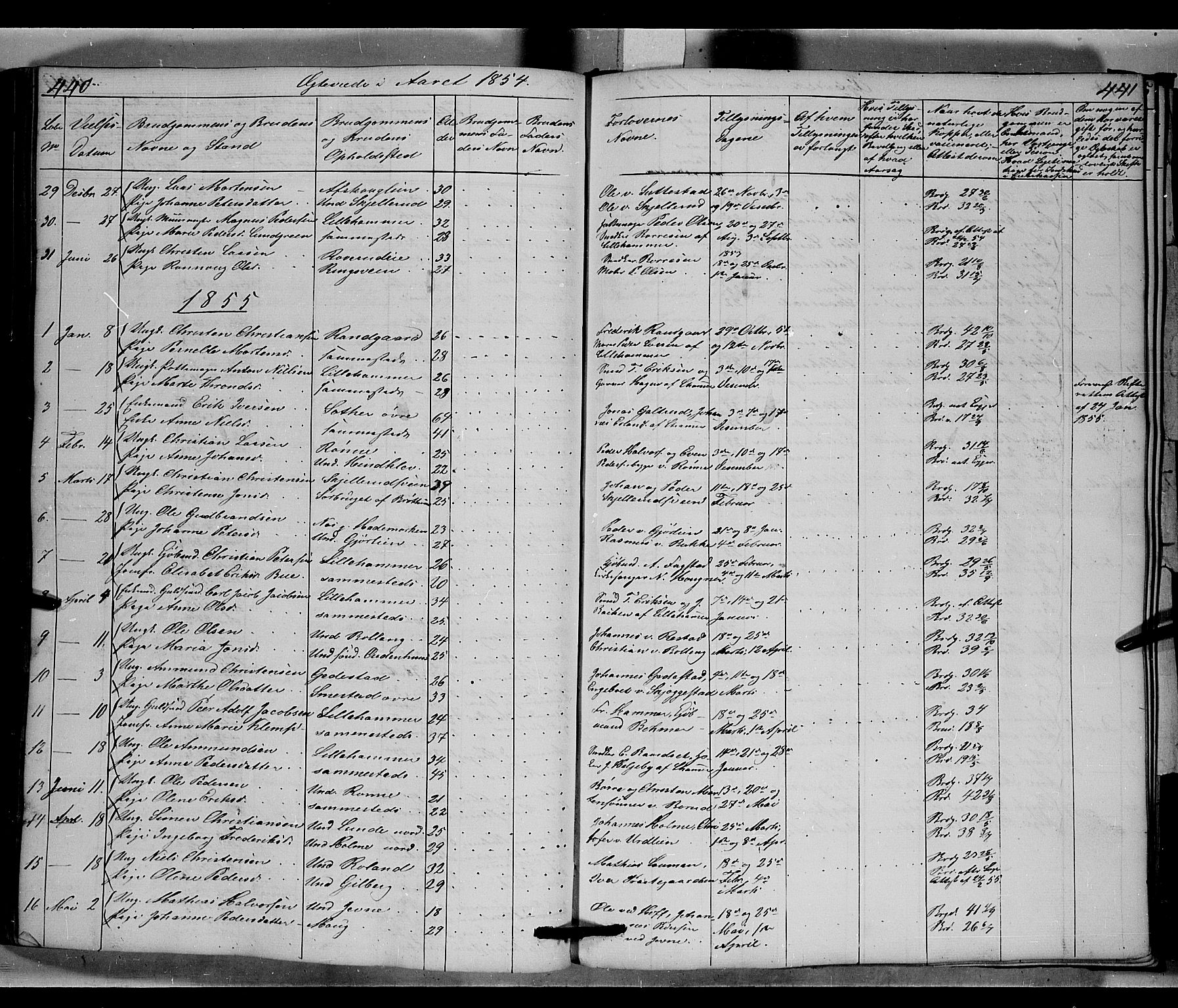 SAH, Fåberg prestekontor, Klokkerbok nr. 6, 1837-1855, s. 440-441