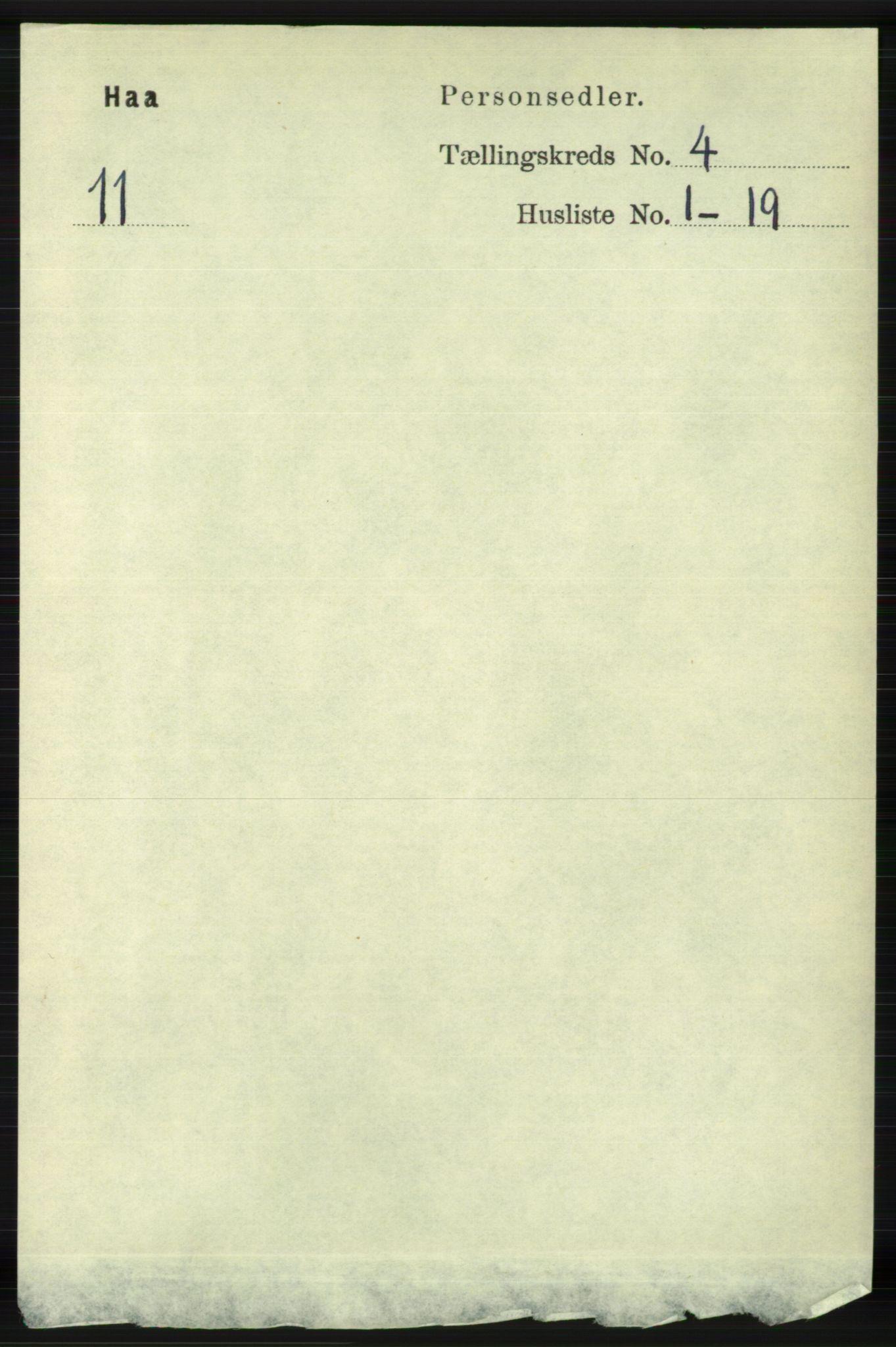 RA, Folketelling 1891 for 1119 Hå herred, 1891, s. 1049