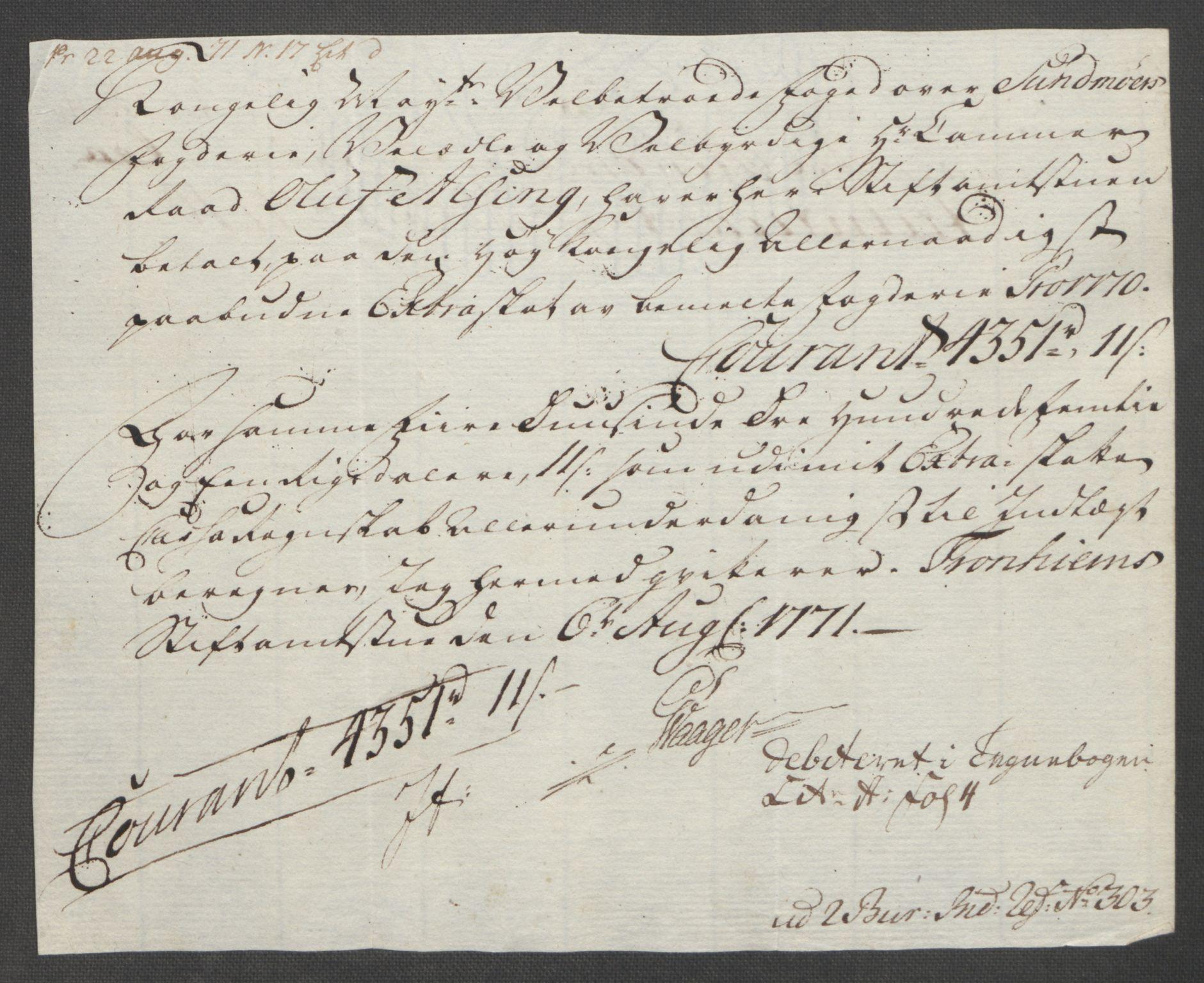 RA, Rentekammeret inntil 1814, Reviderte regnskaper, Fogderegnskap, R54/L3645: Ekstraskatten Sunnmøre, 1762-1772, s. 190