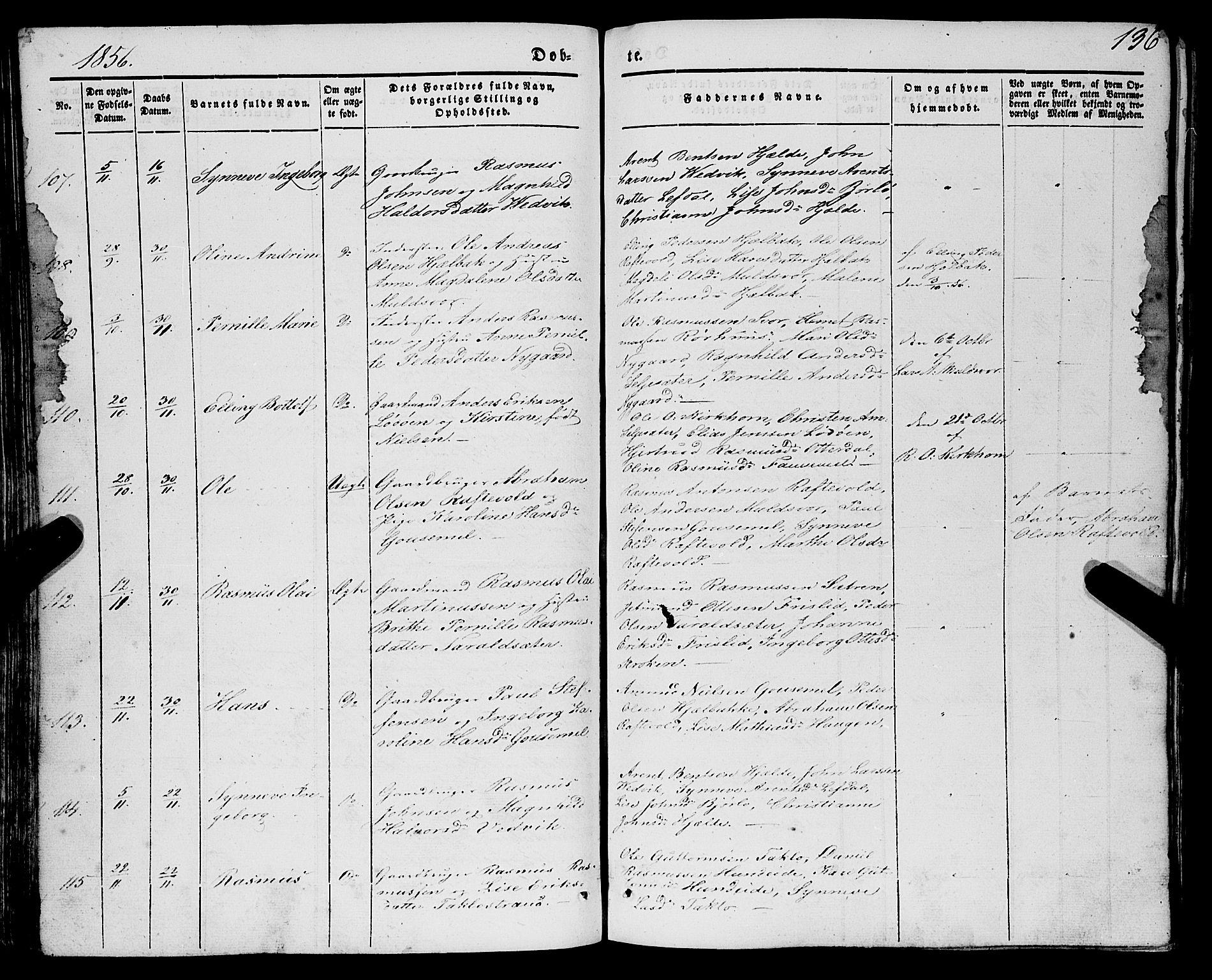 SAB, Eid sokneprestembete, H/Haa/Haaa/L0007: Ministerialbok nr. A 7, 1844-1858, s. 136