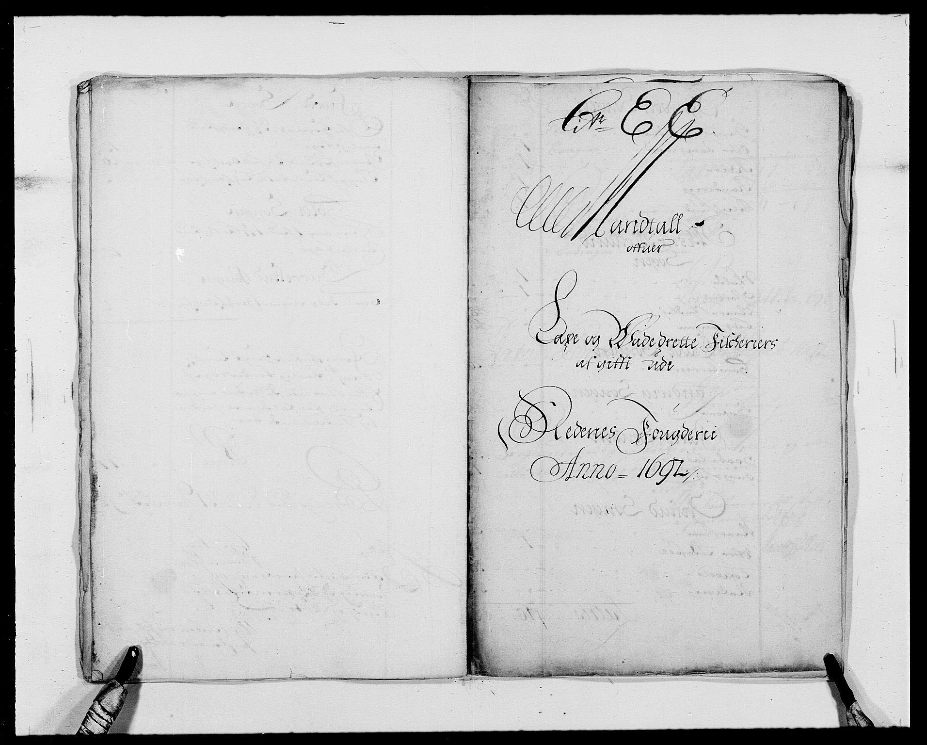 RA, Rentekammeret inntil 1814, Reviderte regnskaper, Fogderegnskap, R39/L2311: Fogderegnskap Nedenes, 1690-1692, s. 156