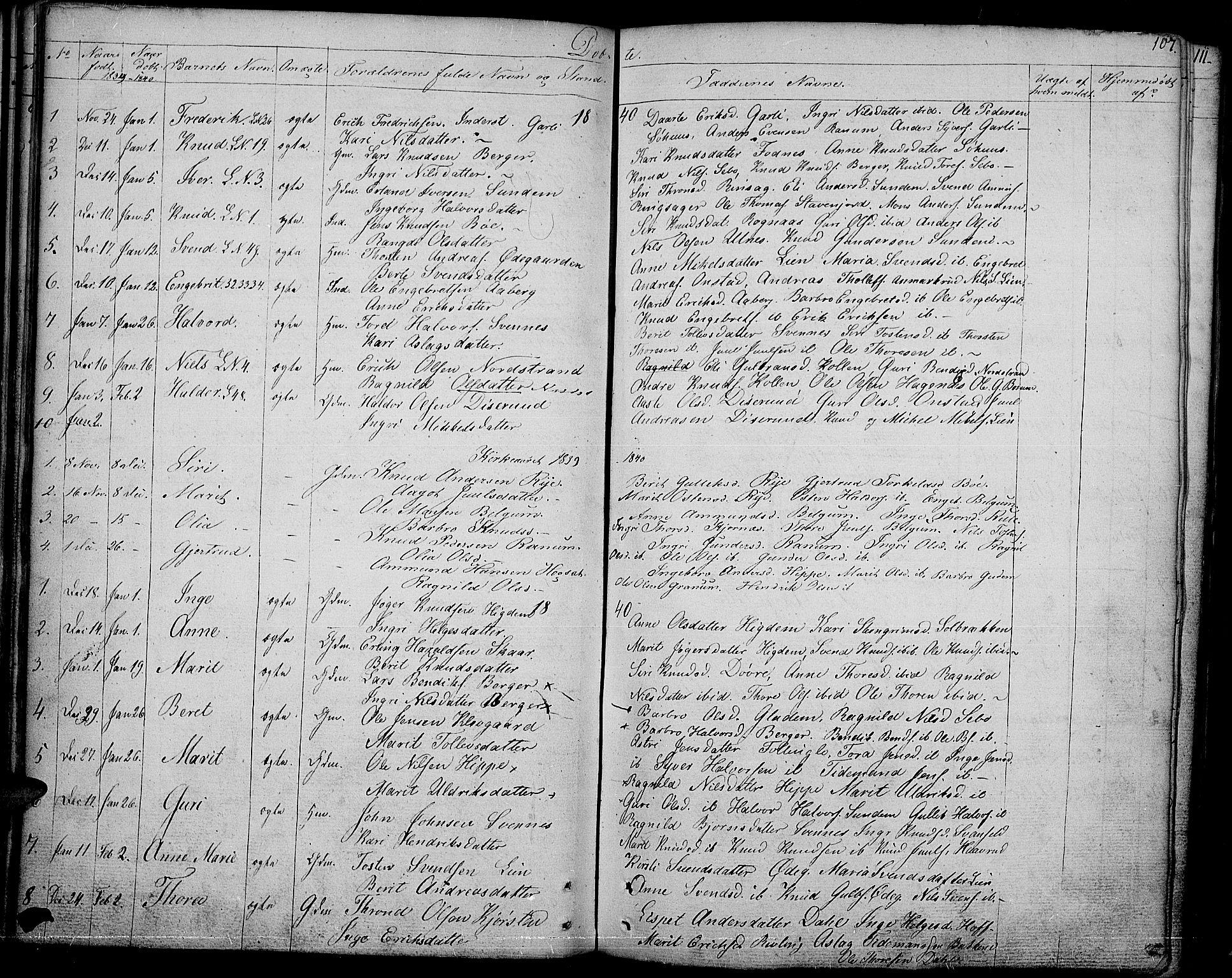 SAH, Nord-Aurdal prestekontor, Ministerialbok nr. 3, 1828-1841, s. 107