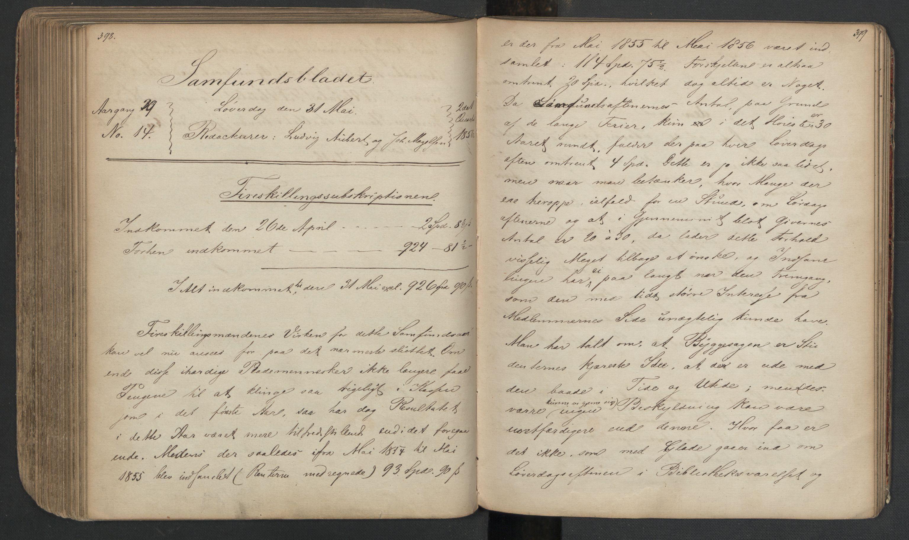 RA, Det Norske Studentersamfund, X/Xa/L0005, 1855-1856, s. 202