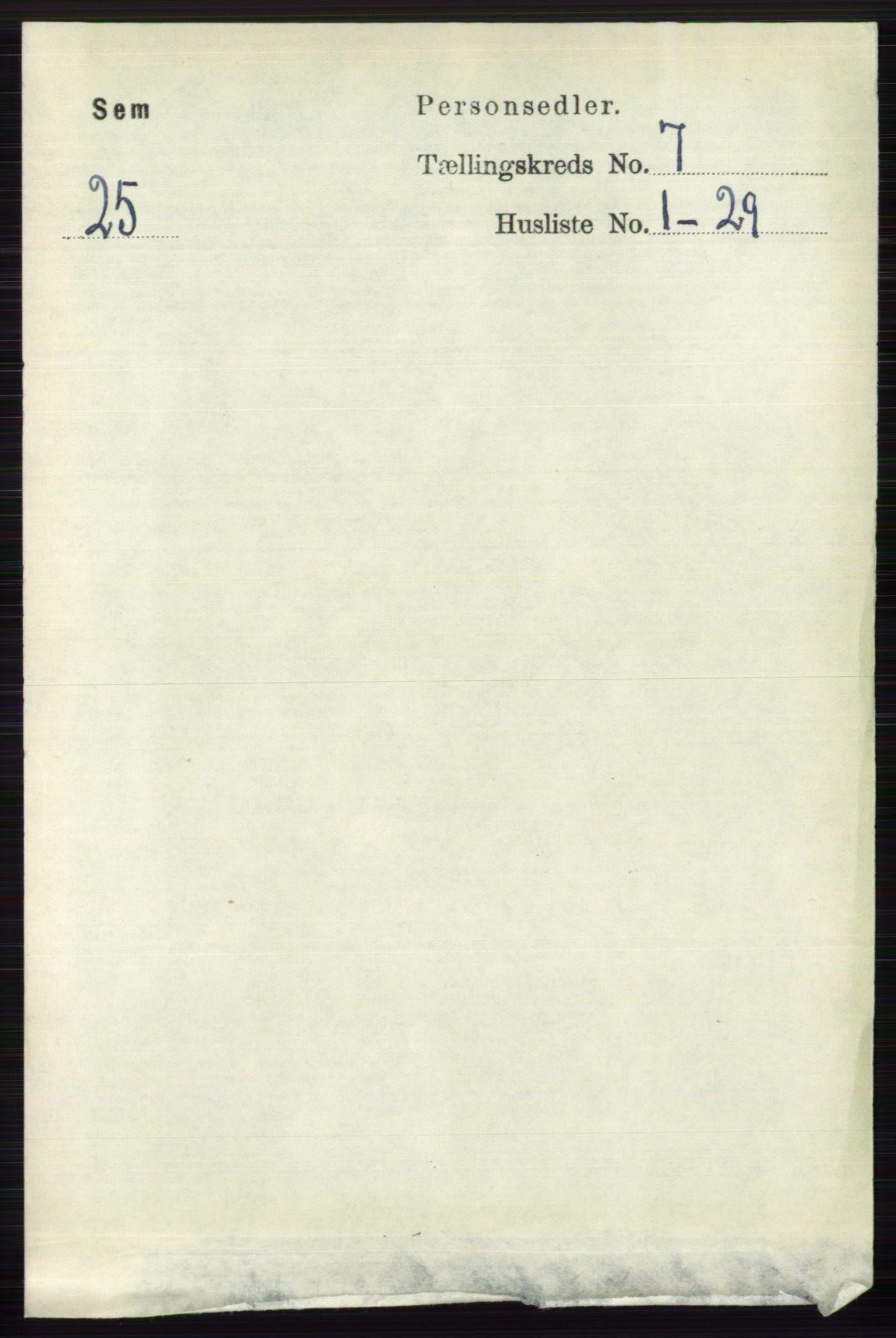 RA, Folketelling 1891 for 0721 Sem herred, 1891, s. 3258