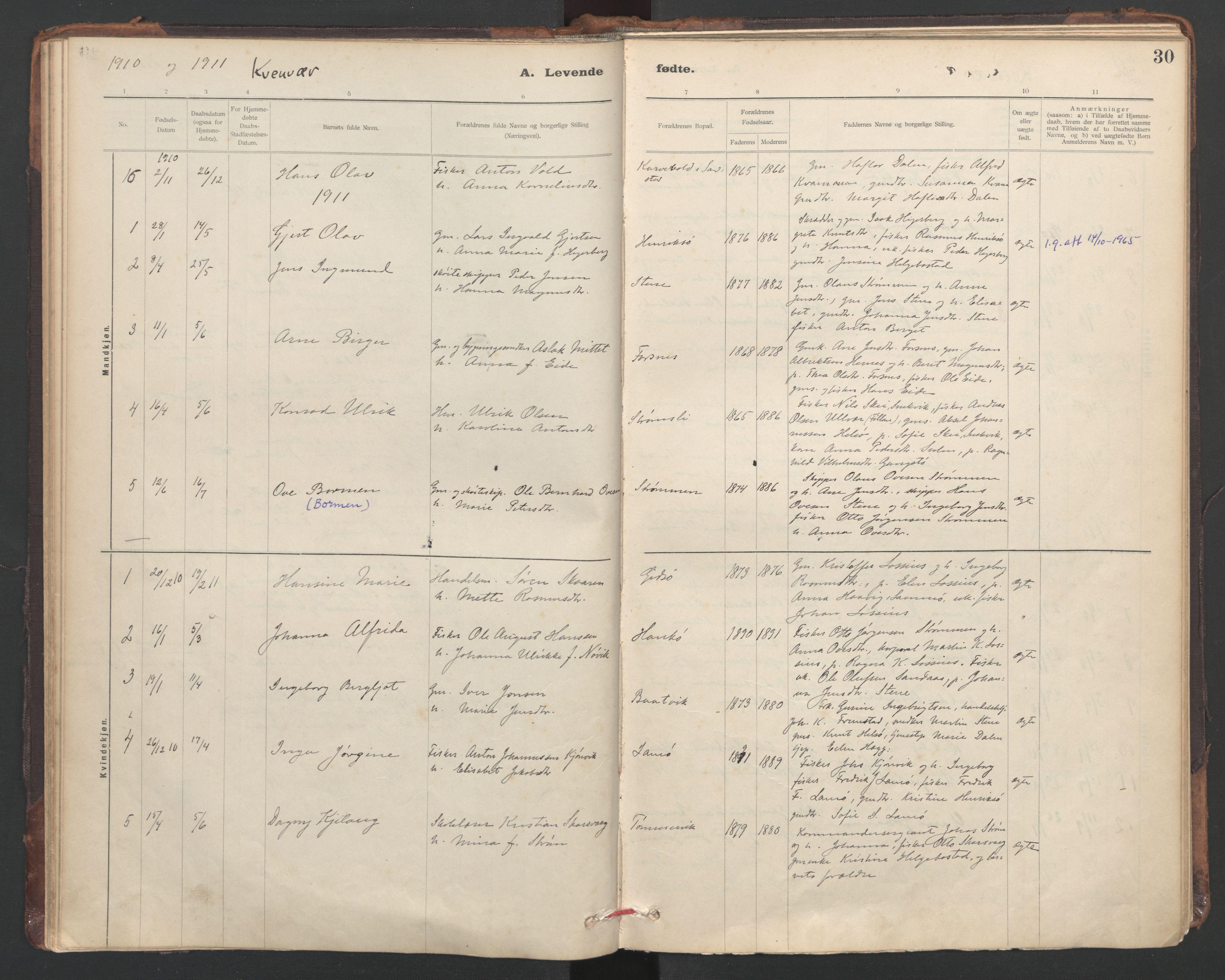 SAT, Ministerialprotokoller, klokkerbøker og fødselsregistre - Sør-Trøndelag, 635/L0552: Ministerialbok nr. 635A02, 1899-1919, s. 30
