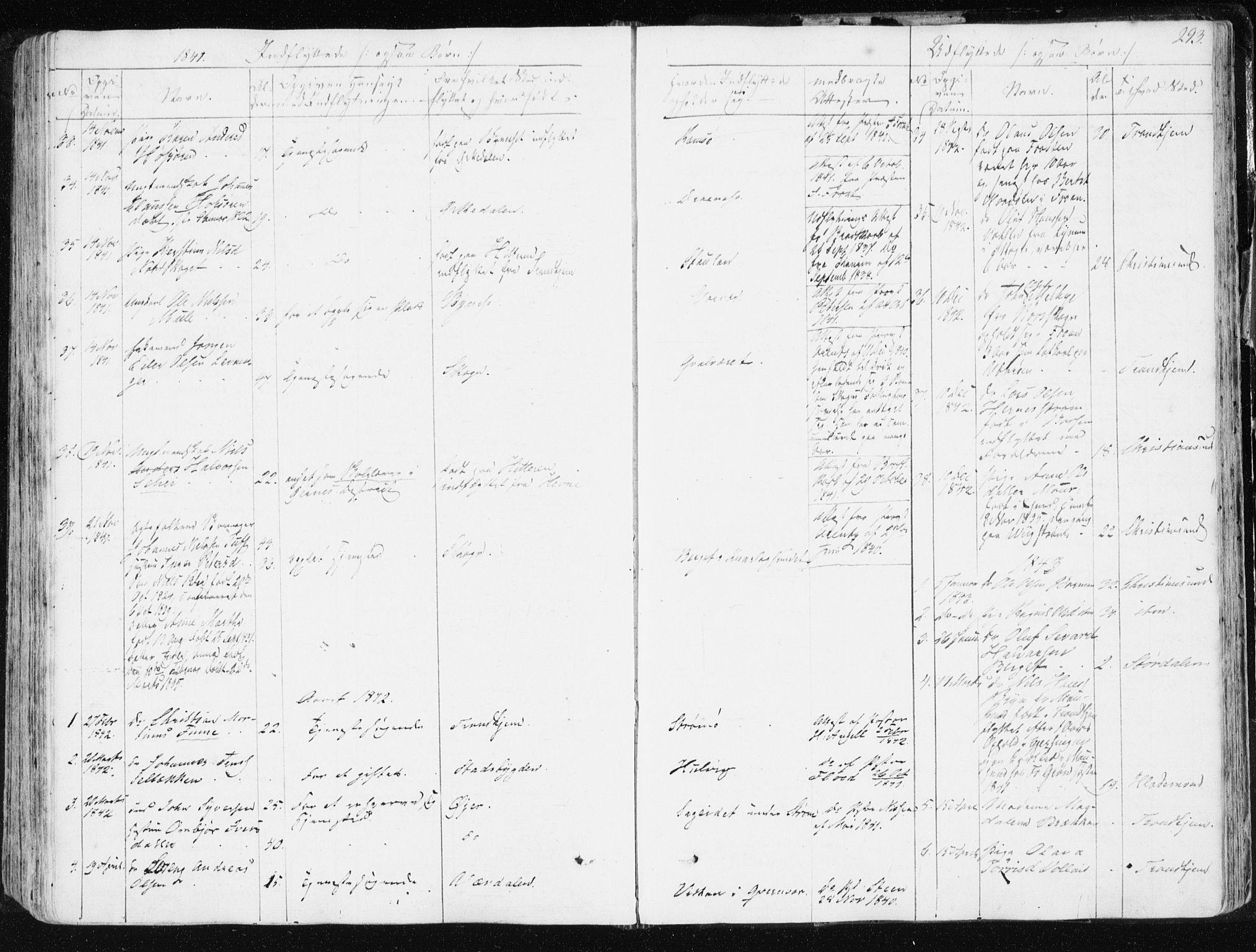SAT, Ministerialprotokoller, klokkerbøker og fødselsregistre - Sør-Trøndelag, 634/L0528: Ministerialbok nr. 634A04, 1827-1842, s. 293