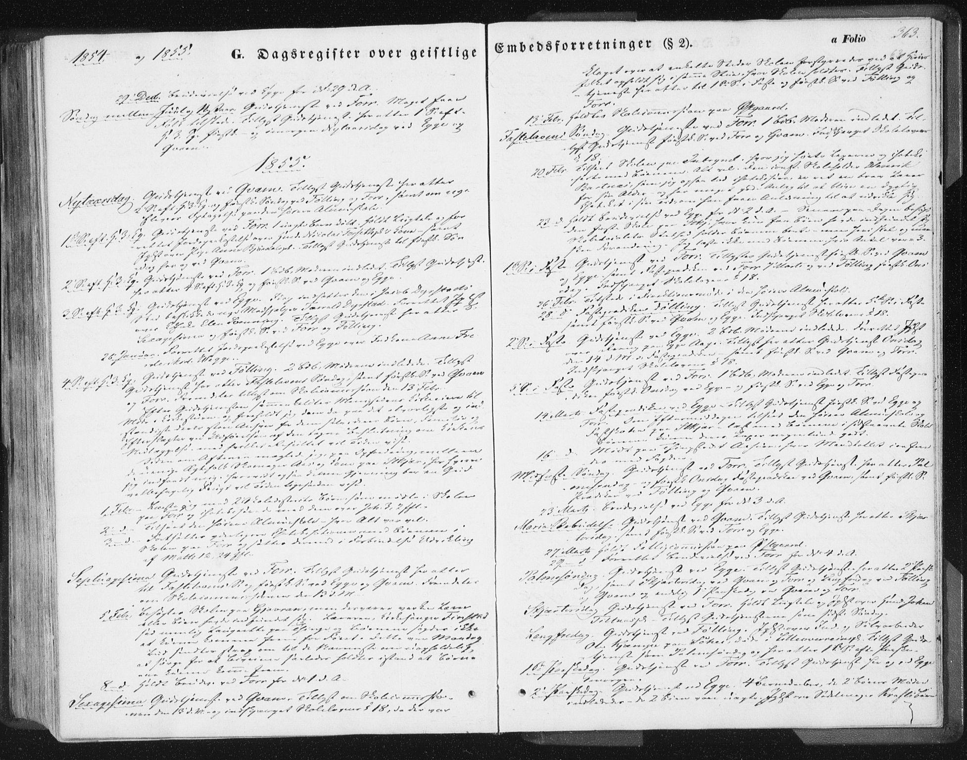 SAT, Ministerialprotokoller, klokkerbøker og fødselsregistre - Nord-Trøndelag, 746/L0446: Ministerialbok nr. 746A05, 1846-1859, s. 363