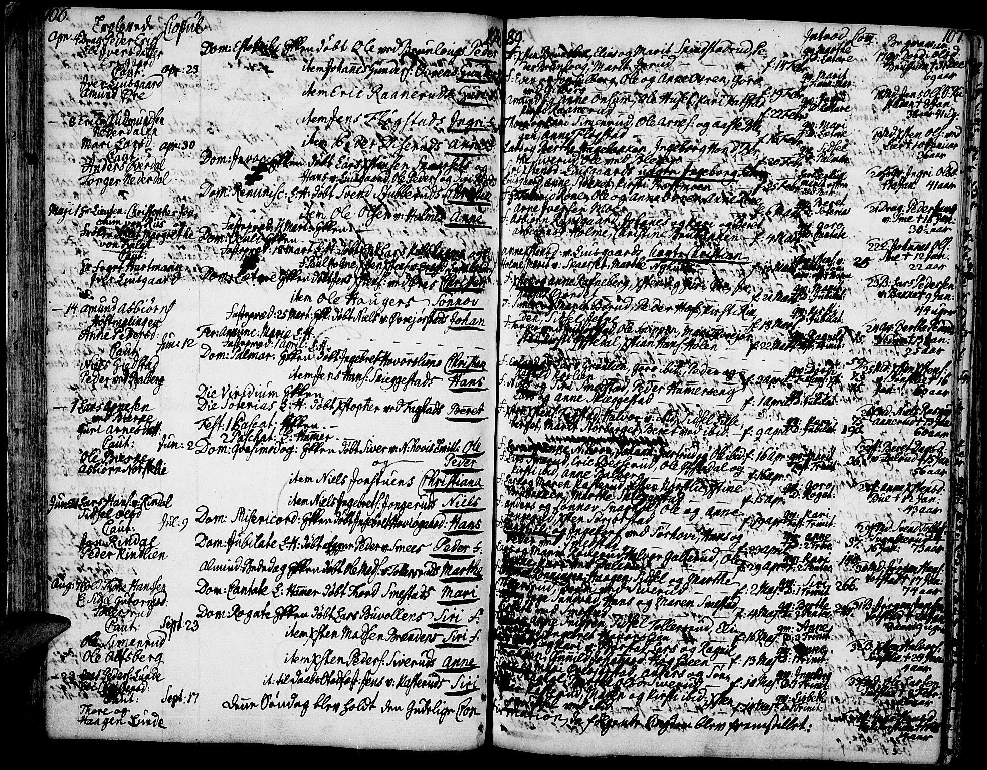 SAH, Fåberg prestekontor, H/Ha/Haa/L0002: Ministerialbok nr. 2, 1775-1818, s. 106-107