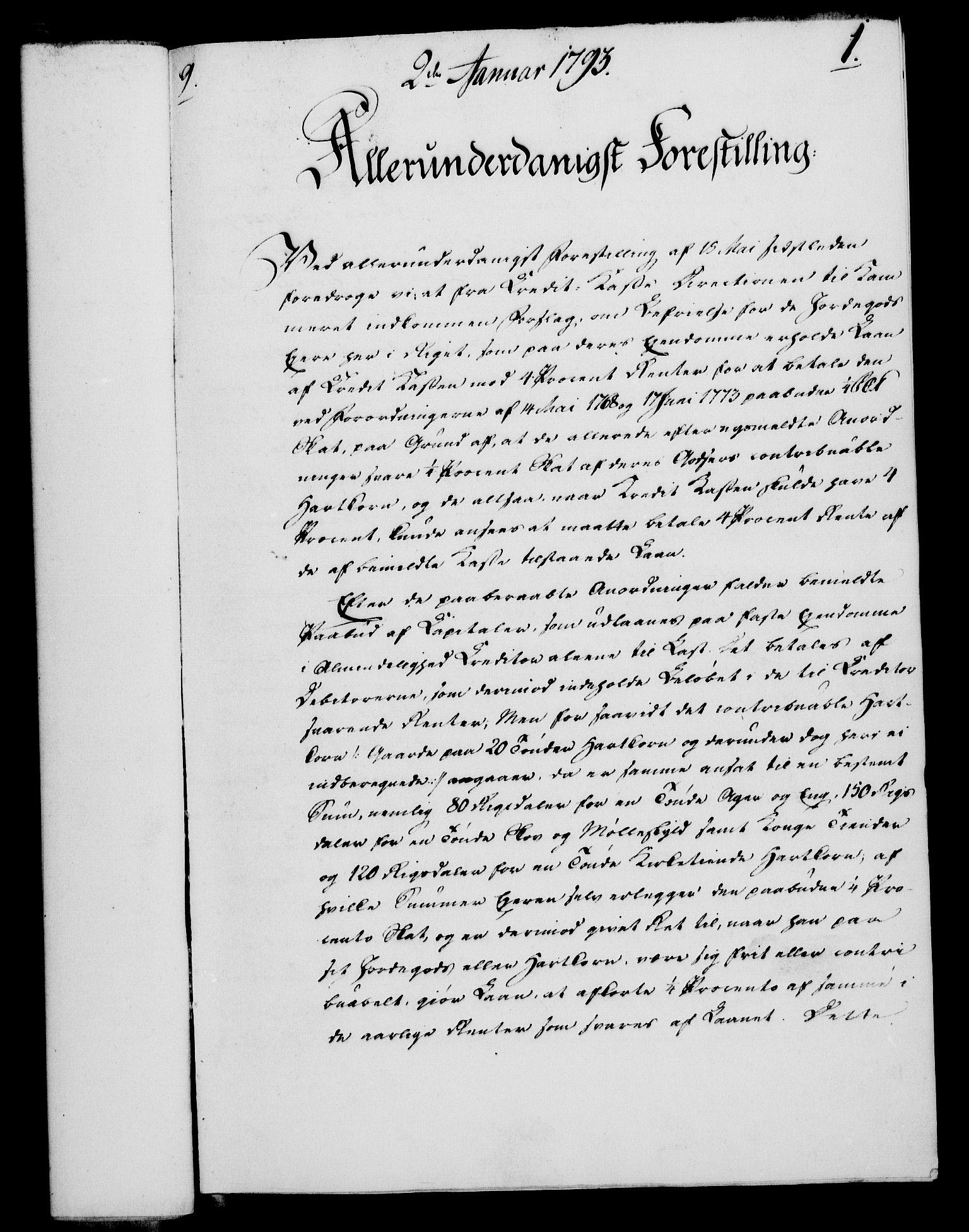RA, Rentekammeret, Kammerkanselliet, G/Gf/Gfa/L0075: Norsk relasjons- og resolusjonsprotokoll (merket RK 52.75), 1793, s. 28