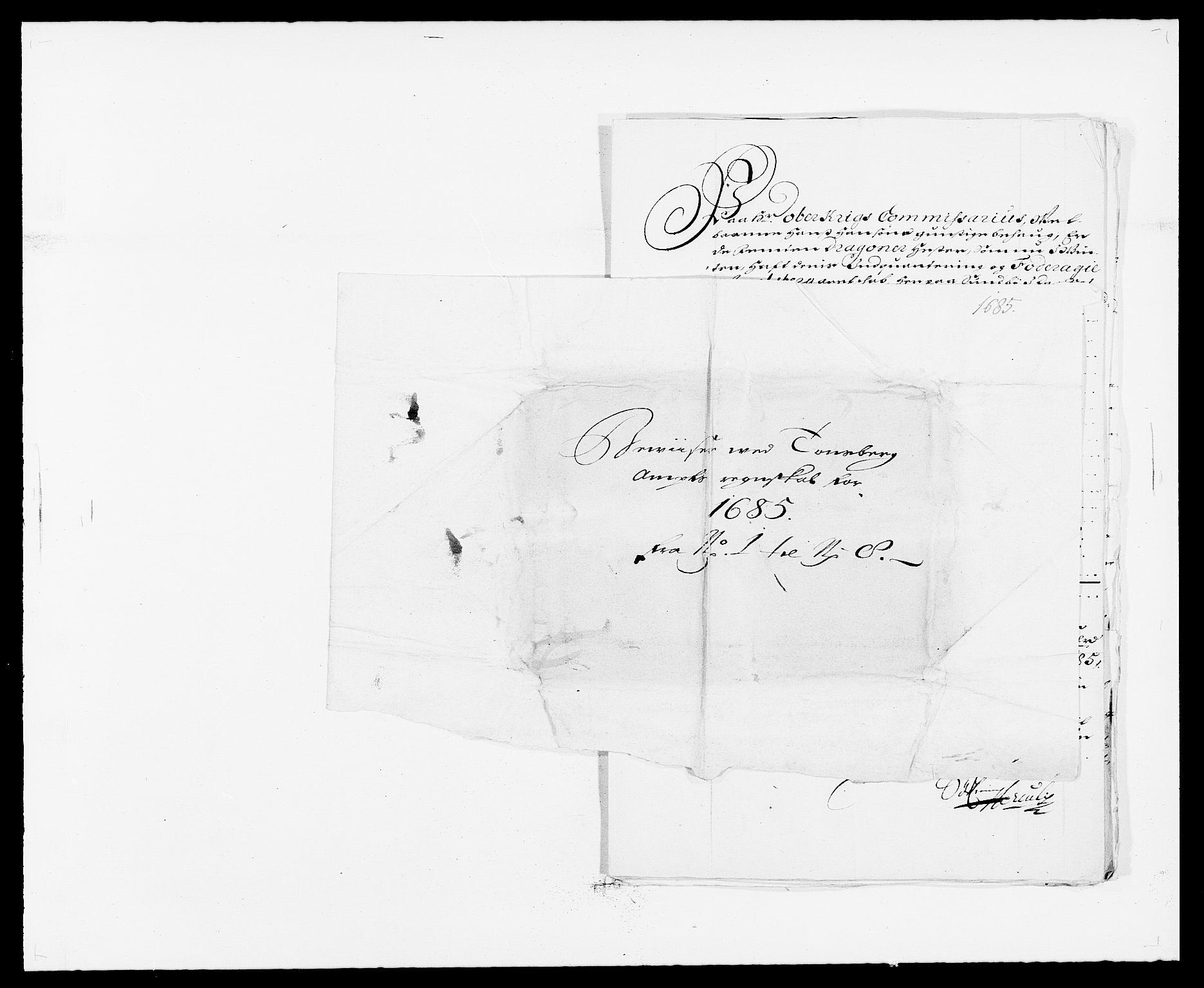 RA, Rentekammeret inntil 1814, Reviderte regnskaper, Fogderegnskap, R32/L1856: Fogderegnskap Jarlsberg grevskap, 1685, s. 358