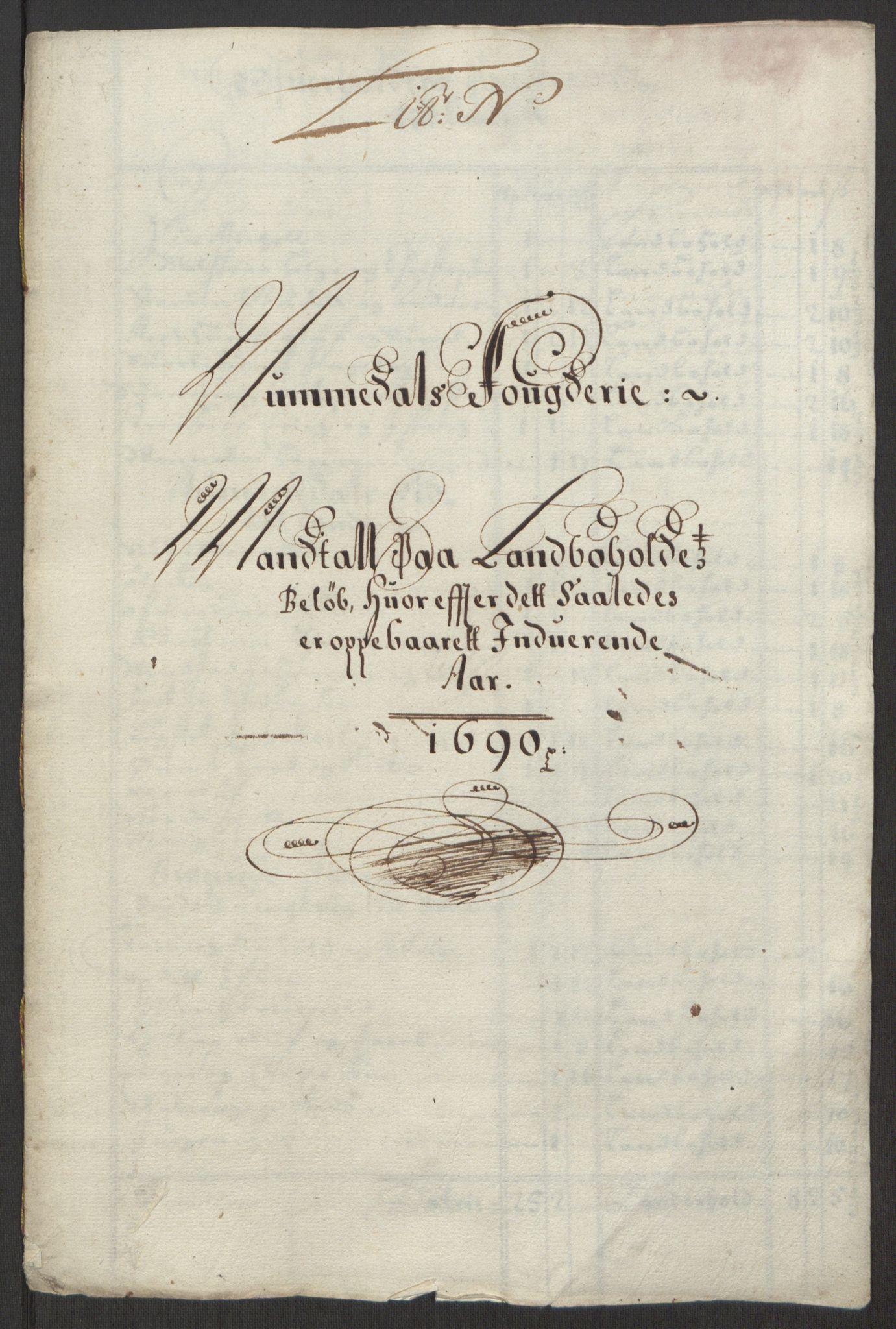 RA, Rentekammeret inntil 1814, Reviderte regnskaper, Fogderegnskap, R64/L4423: Fogderegnskap Namdal, 1690-1691, s. 84