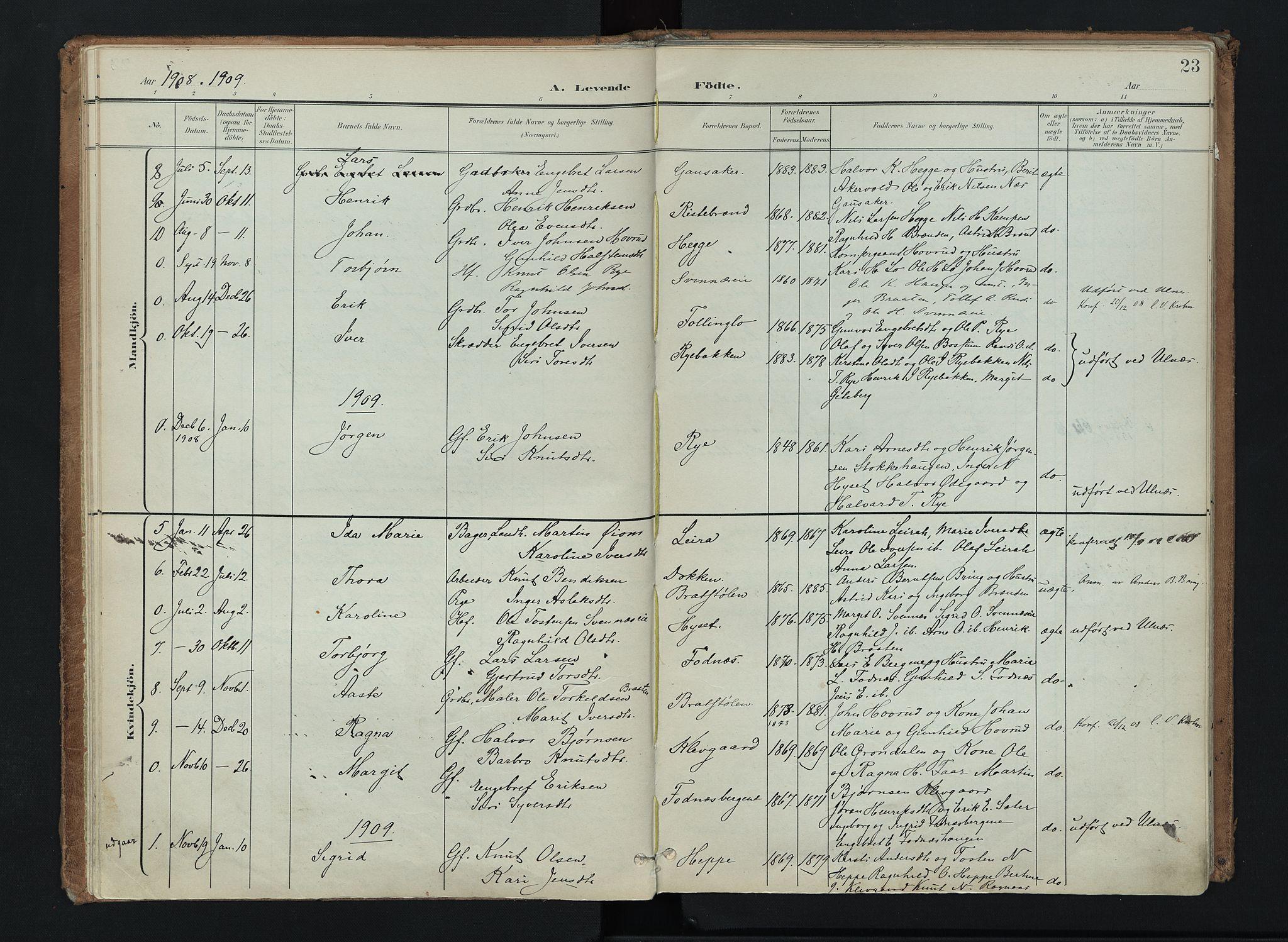 SAH, Nord-Aurdal prestekontor, Ministerialbok nr. 16, 1897-1925, s. 23