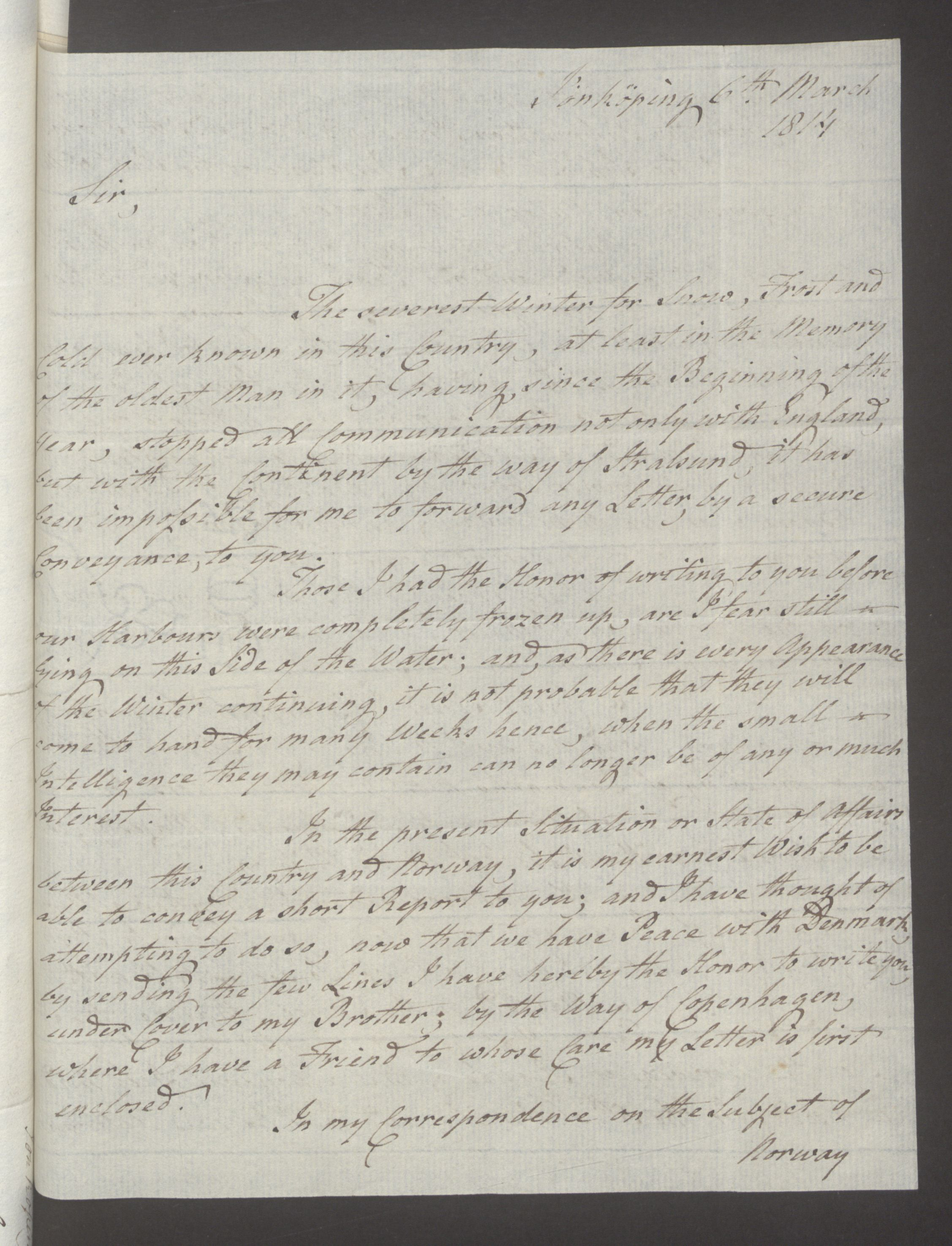 UKA, Foreign Office*, FO 38/16: Sir C. Gordon. Reports from Malmö, Jonkoping, and Helsingborg, 1814, s. 18