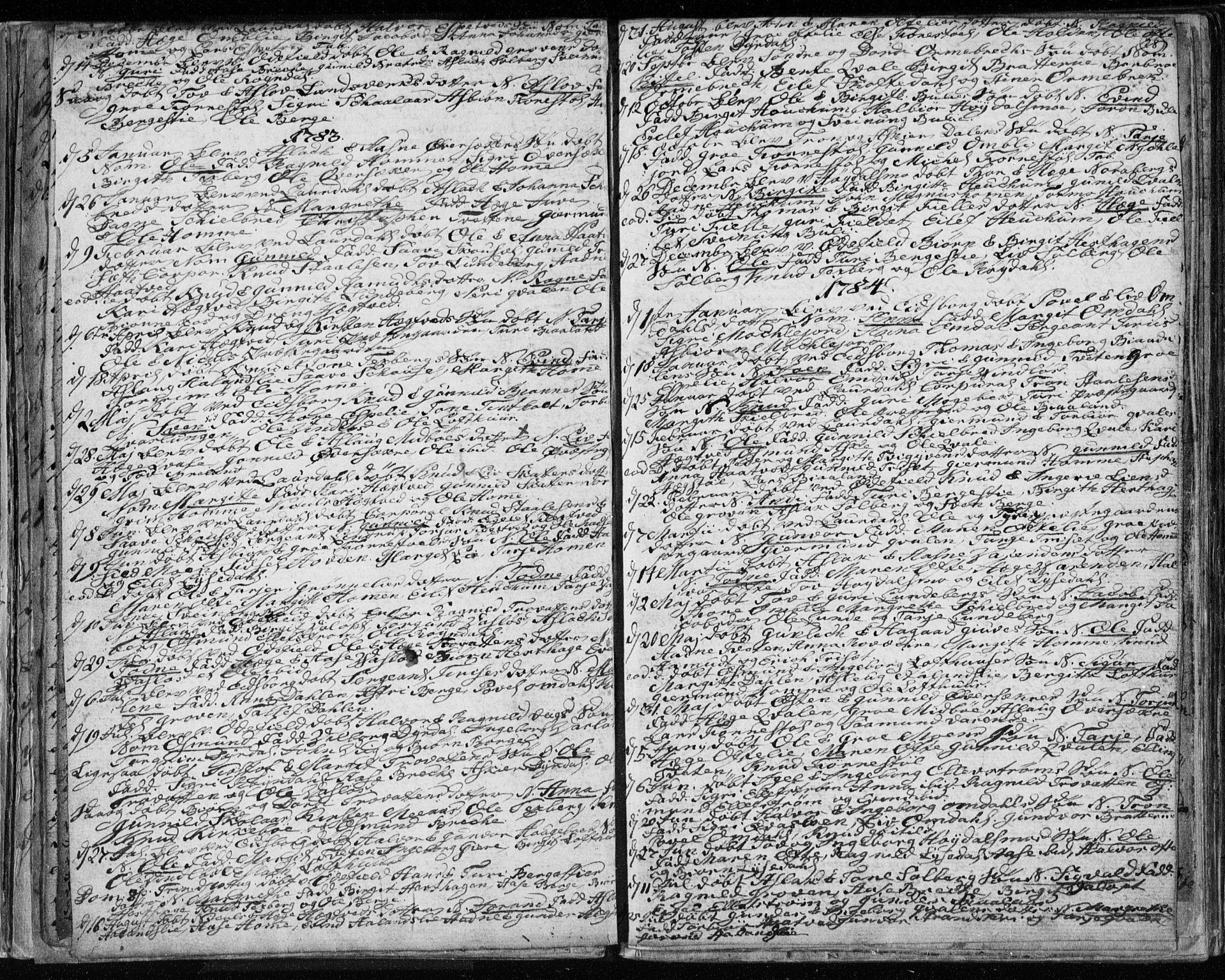 SAKO, Lårdal kirkebøker, F/Fa/L0003: Ministerialbok nr. I 3, 1754-1790, s. 28