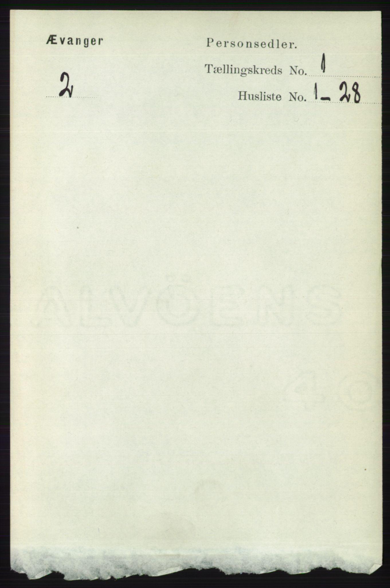 RA, Folketelling 1891 for 1237 Evanger herred, 1891, s. 53