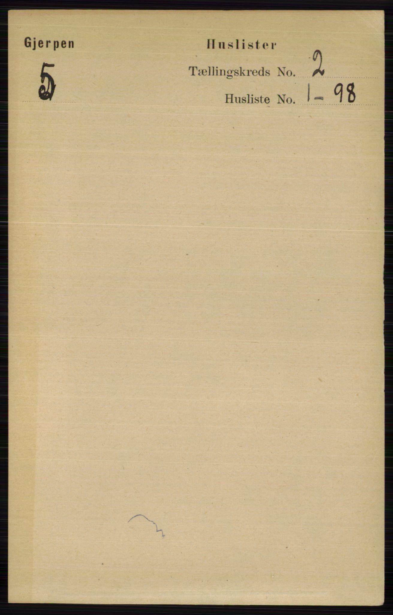 RA, Folketelling 1891 for 0812 Gjerpen herred, 1891, s. 646