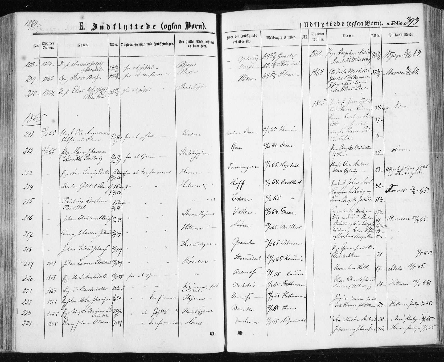 SAT, Ministerialprotokoller, klokkerbøker og fødselsregistre - Sør-Trøndelag, 659/L0737: Ministerialbok nr. 659A07, 1857-1875, s. 393