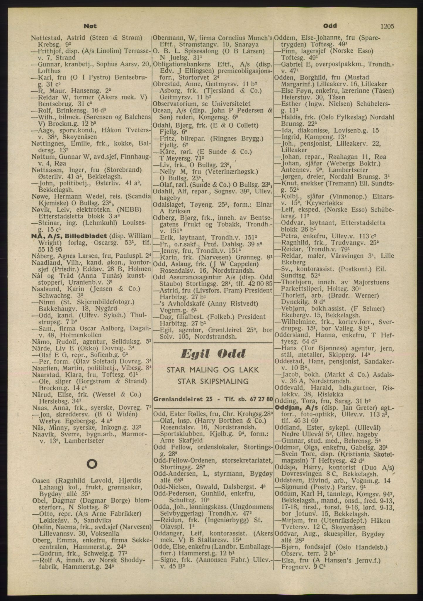 RA, Oslo adressebok (publikasjon)*, 1955, s. 1205