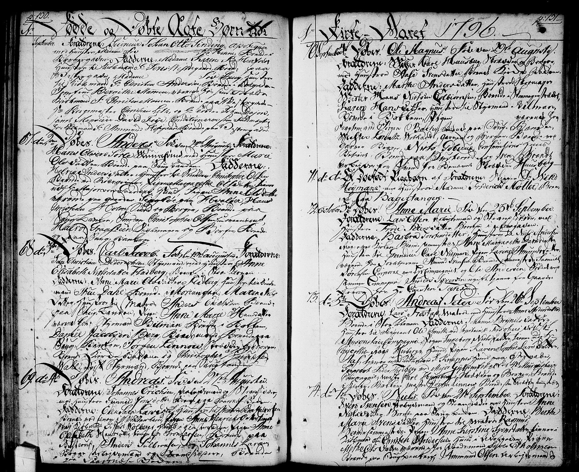 SAO, Halden prestekontor Kirkebøker, F/Fa/L0002: Ministerialbok nr. I 2, 1792-1812, s. 130-131