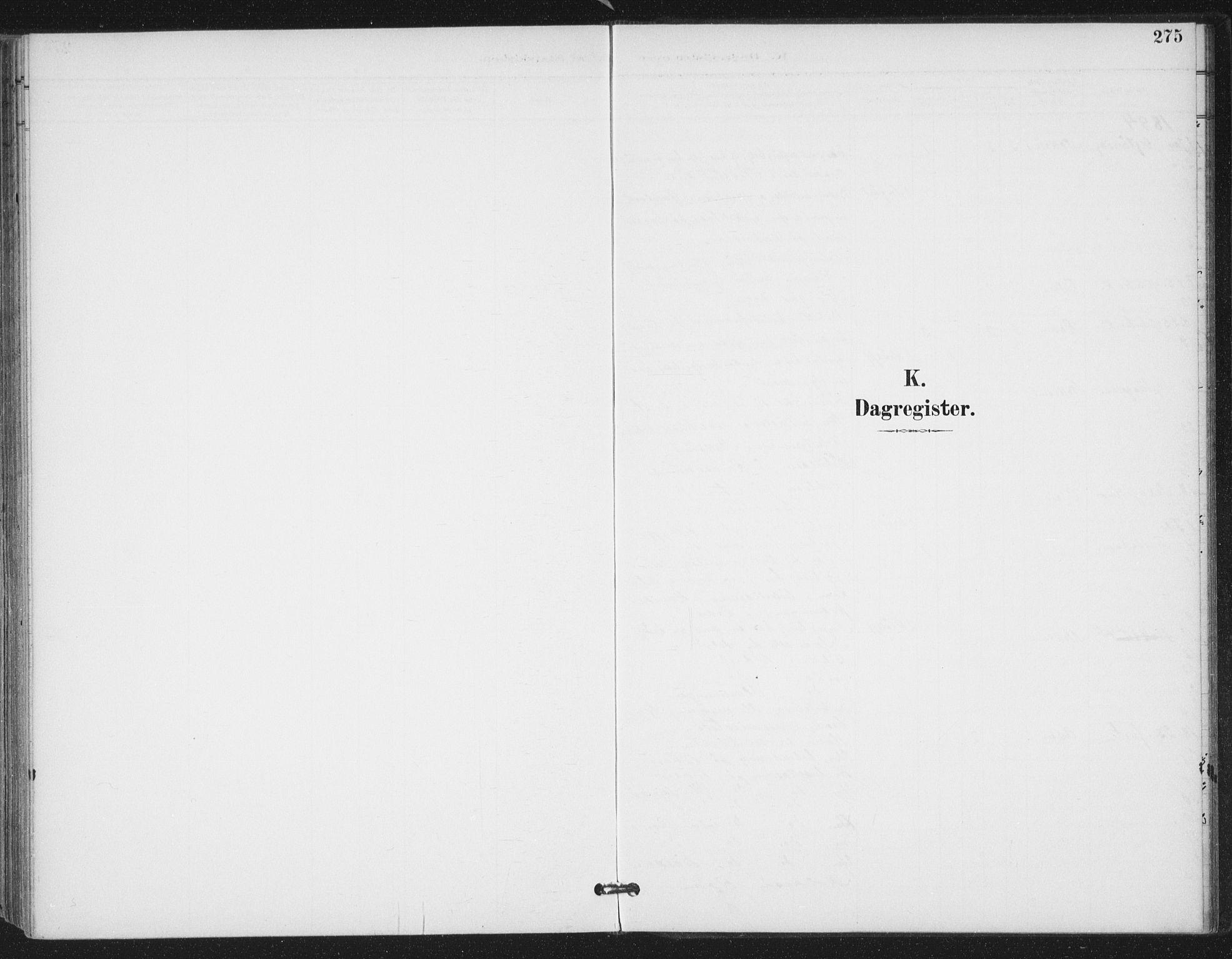 SAT, Ministerialprotokoller, klokkerbøker og fødselsregistre - Sør-Trøndelag, 657/L0708: Ministerialbok nr. 657A09, 1894-1904, s. 275