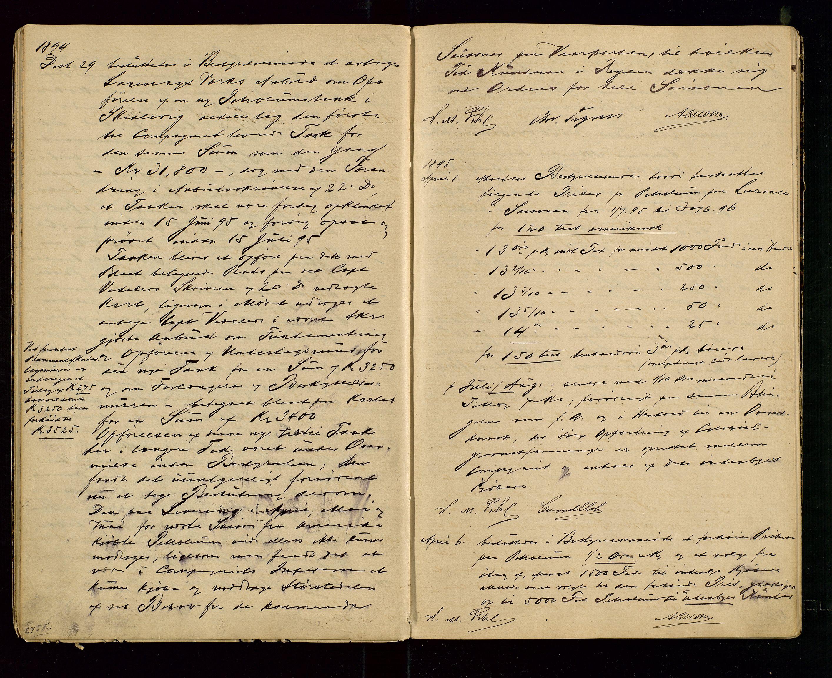 SAST, PA 1533 - A/S Vestlandske Petroleumscompani, A/Aa/L0001: Generalforsamlinger og styreprotokoller, 1890-1907, s. 21