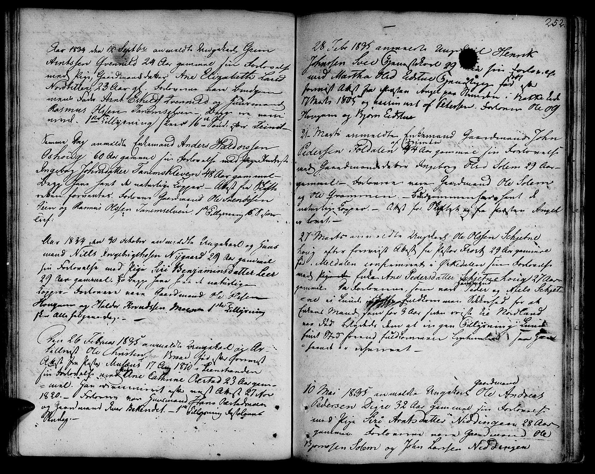 SAT, Ministerialprotokoller, klokkerbøker og fødselsregistre - Sør-Trøndelag, 618/L0438: Ministerialbok nr. 618A03, 1783-1815, s. 252